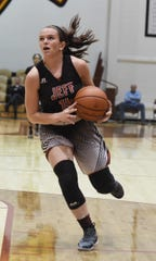 Ashlynn McTagertt had a double-double in Lafayette Jeff's win over Arsenal Tech Friday night.