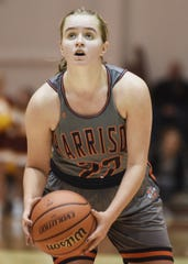 Friday night Hoops Classic action as Harrison takes on McCutcheon. Sydney Jacobsen.
