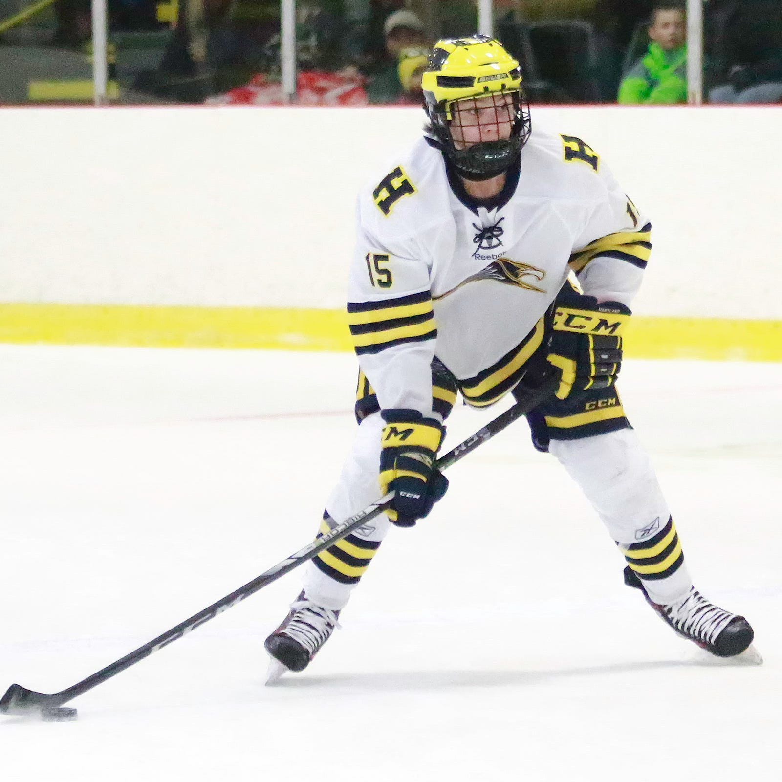 Hartland passes first tough test of hockey season; Pinckney wins opener