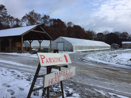 The future of Stone Coop Farm is up in the air. The land in Green Oak Township, shown Saturday, Nov. 17, 2018, is for sale. They are planning to regroup, try to find new land and continue food education and meal programs.