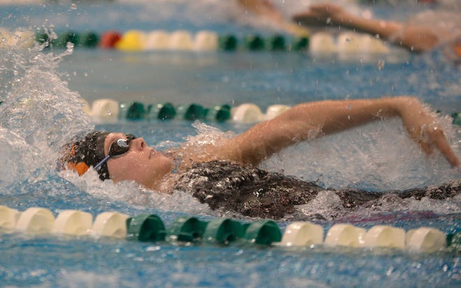 Brighton's Lindsey Witte was fourth in the 200 individual medley in the state Division 1 swimming meet on Saturday, Nov. 17, 2018 at Eastern Michigan University.