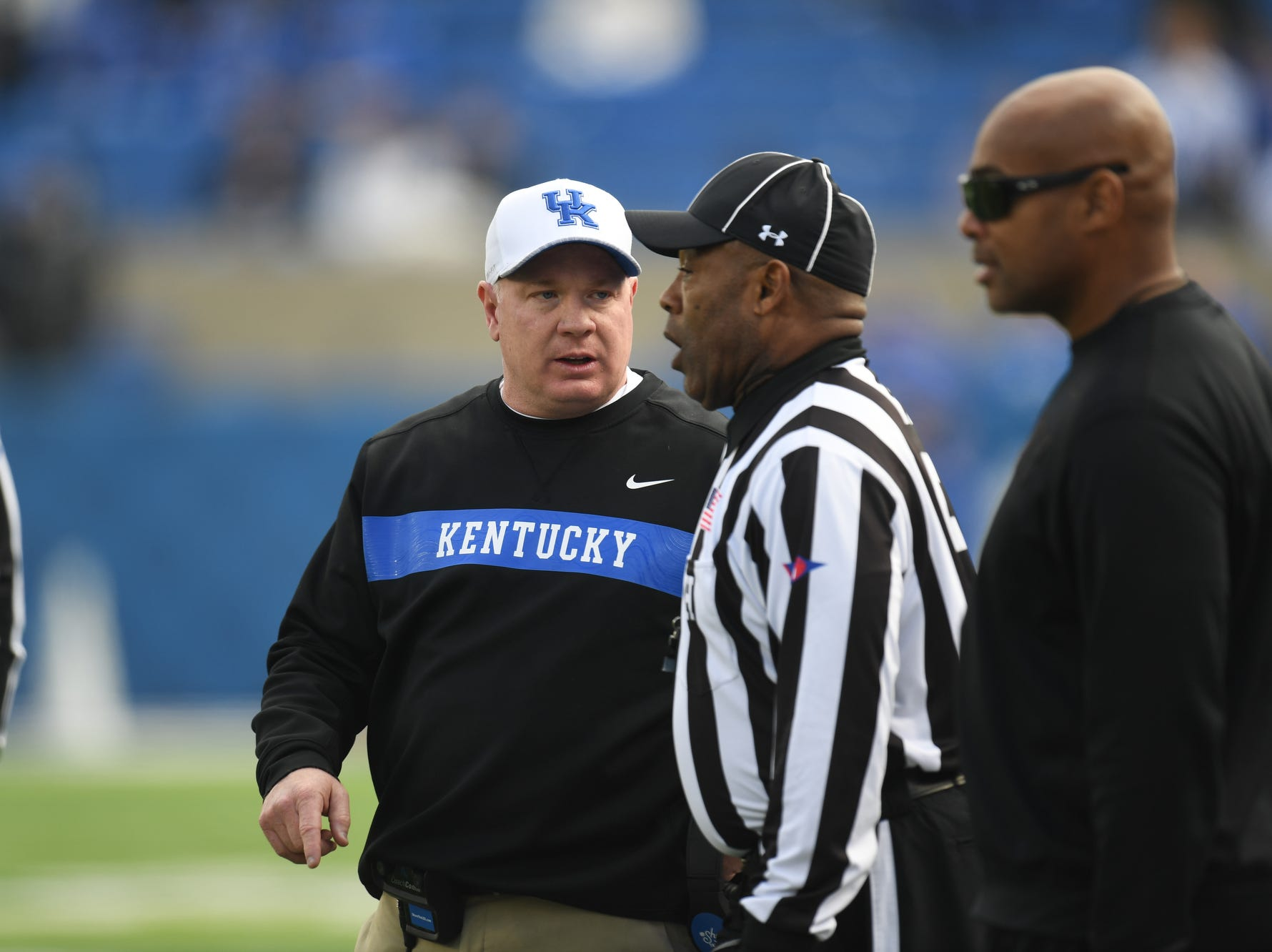 UK head coach Mark Stoops during the University of Kentucky football game against Middle Tennessee at Kroger Field in Lexington, Kentucky on Saturday, November 17, 2018.