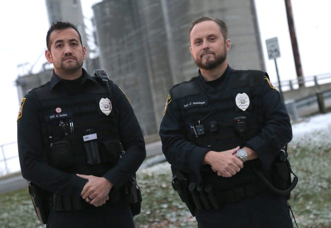 Shelby police officers Sean Nolen and John Guisinger saved the life of a man who was suicidal earlier this month.