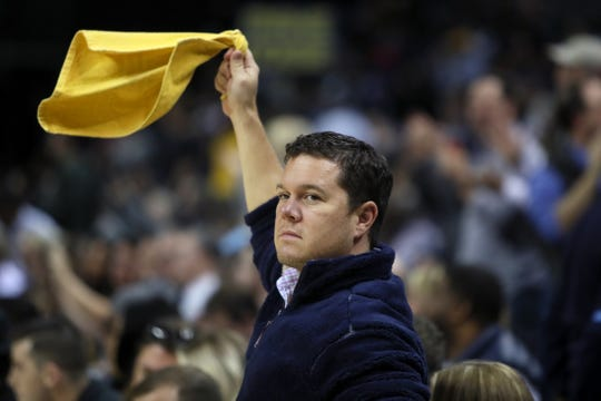 Memphis Grizzlies fans cheer on their team as they defeat the Sacramento Kings 112-104 at the FedExForum on Friday, November 16, 2018.