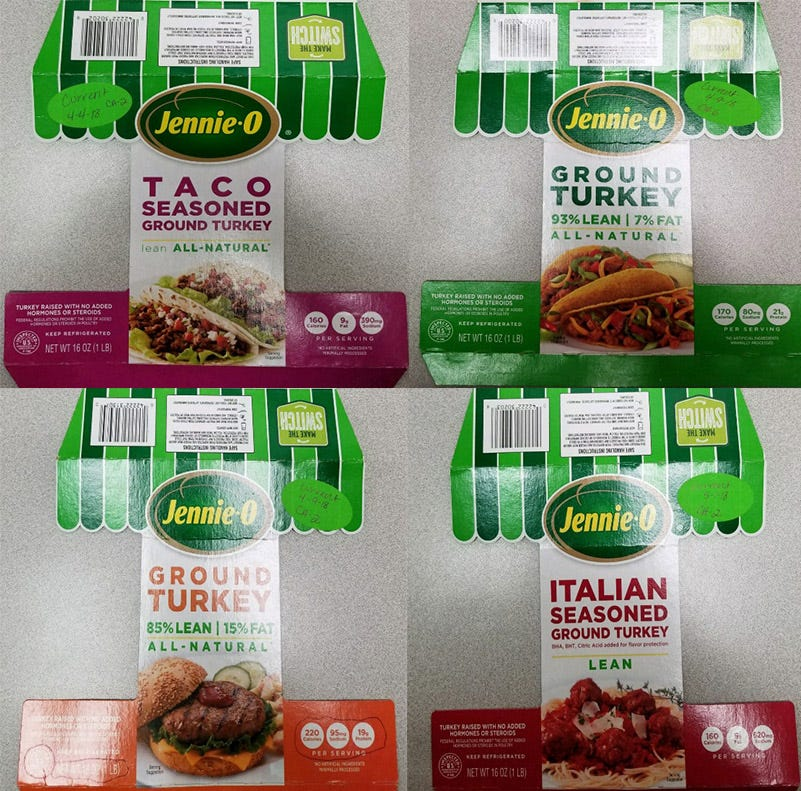 Jennie-O recalls 91,000 pounds of turkey products due to salmonella risk