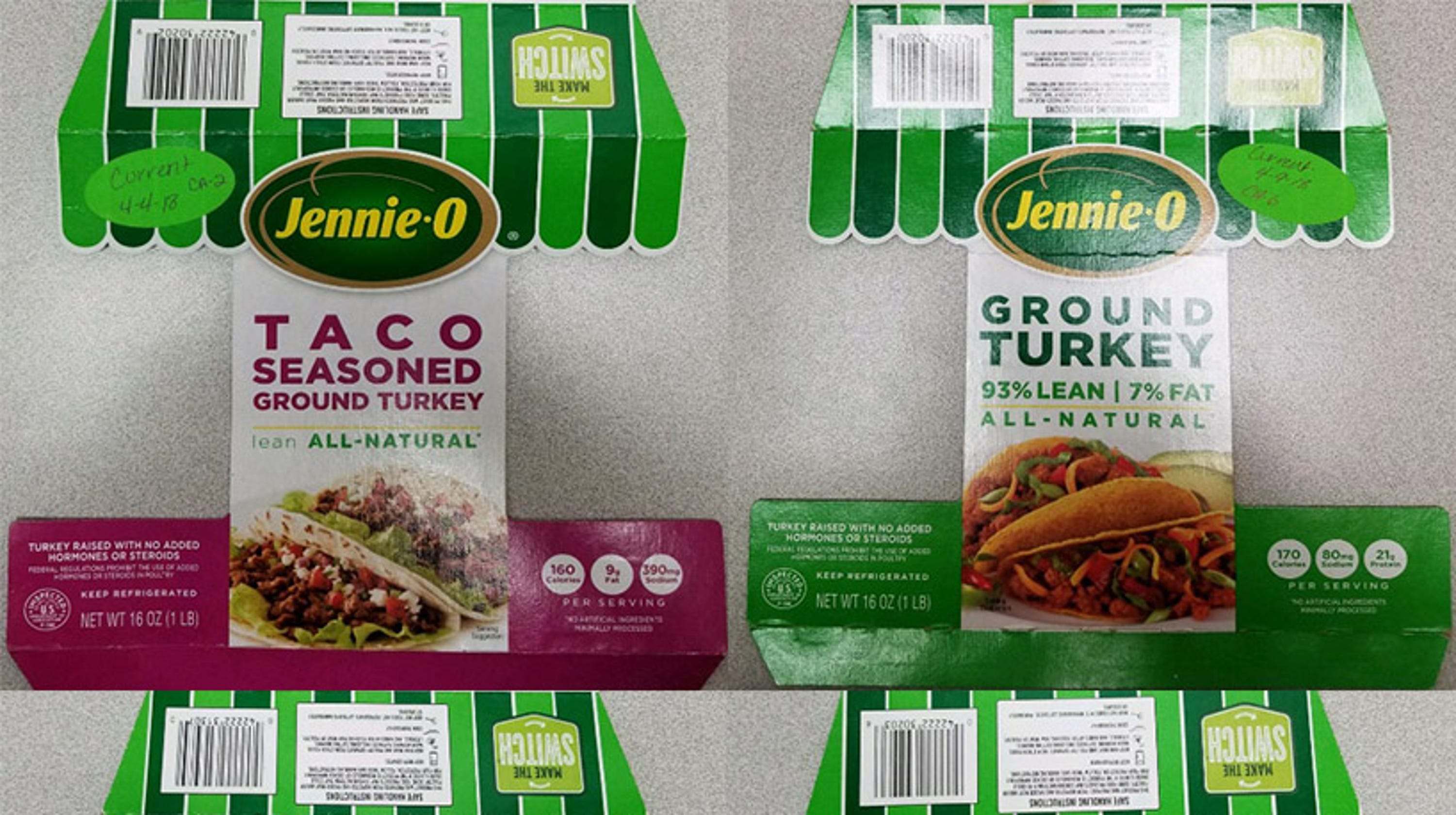 Jennie-O recalls 91,000 pounds of turkey products due to