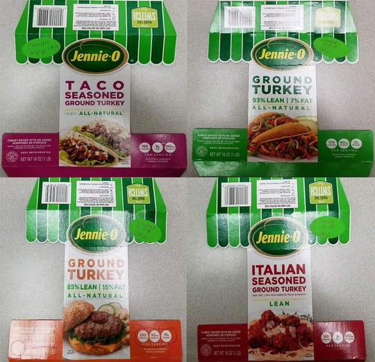 Jennie-O Turkey has recalled 91,388 pounds of turkey products due to possible salmonella contamination.