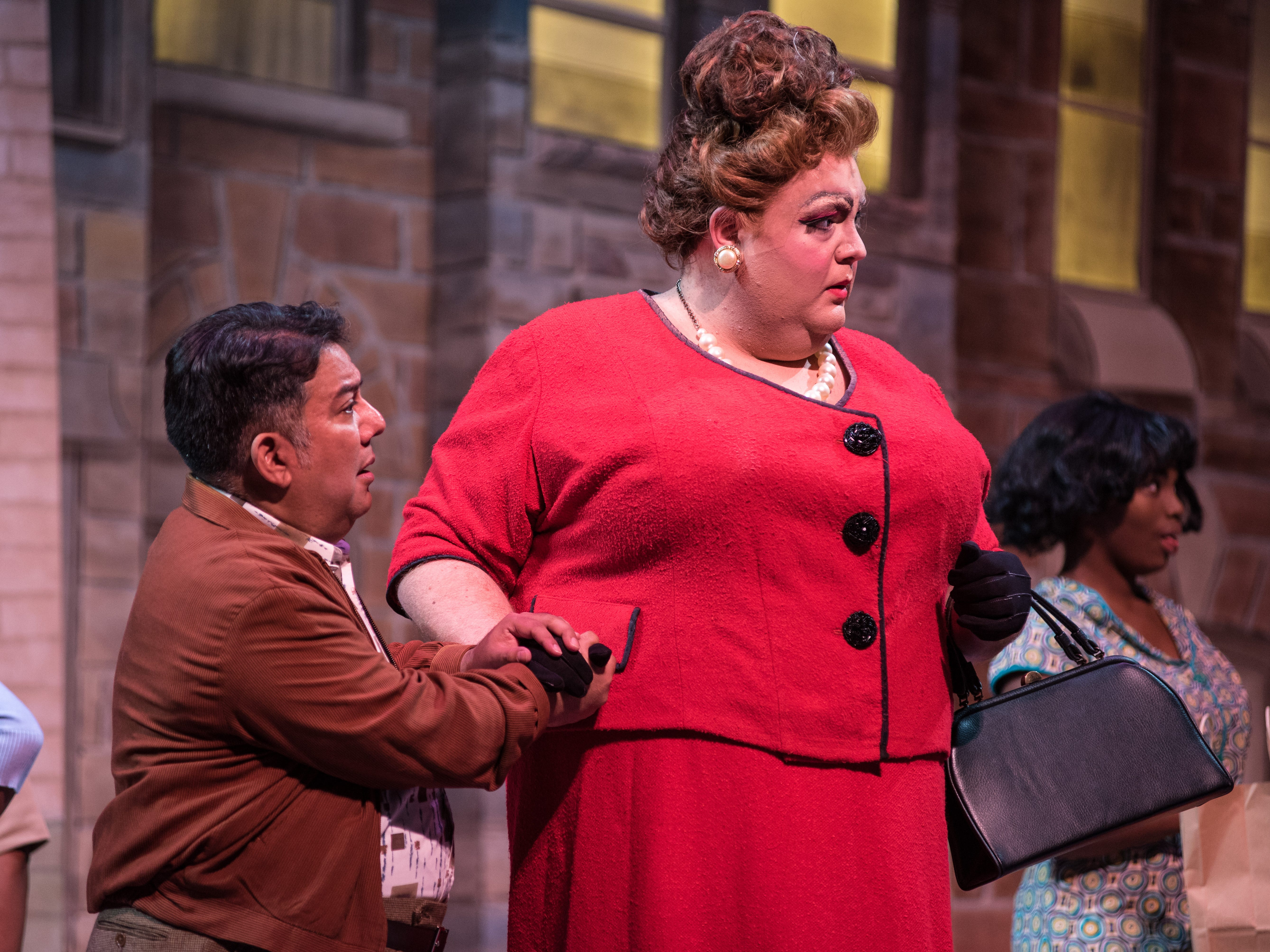 "David Flores (left) and Tommy Novak make a striking couple in Skylight Music Theatre's ""Hairspray."""
