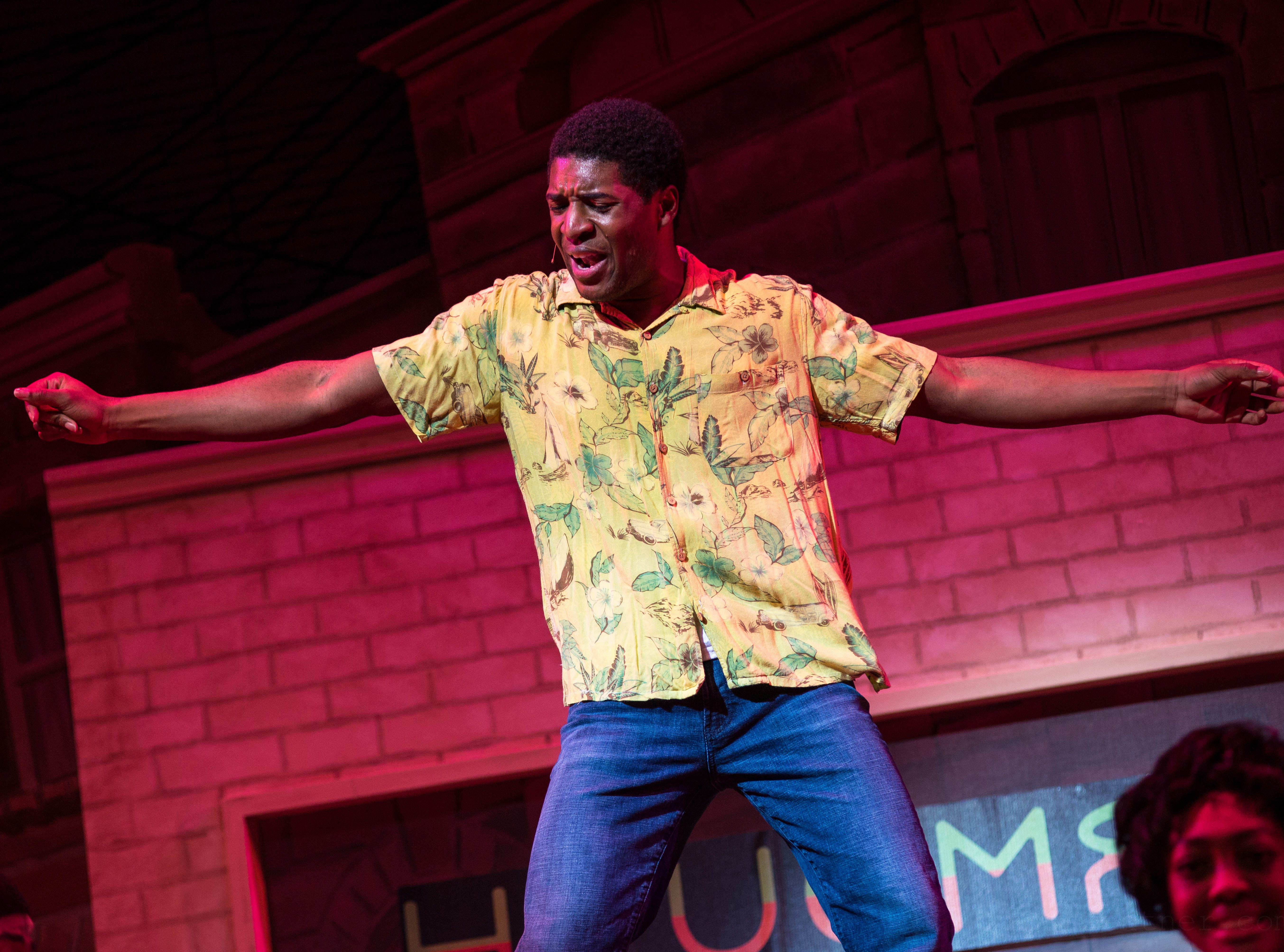 """Gilbert Domally performs in Skylight Music Theatre's """"Hairspray."""""""