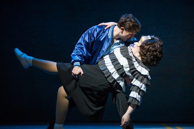"Colin Schreier has eyes for Maisie Rose in Skylight Music Theatre's ""Hairspray."""
