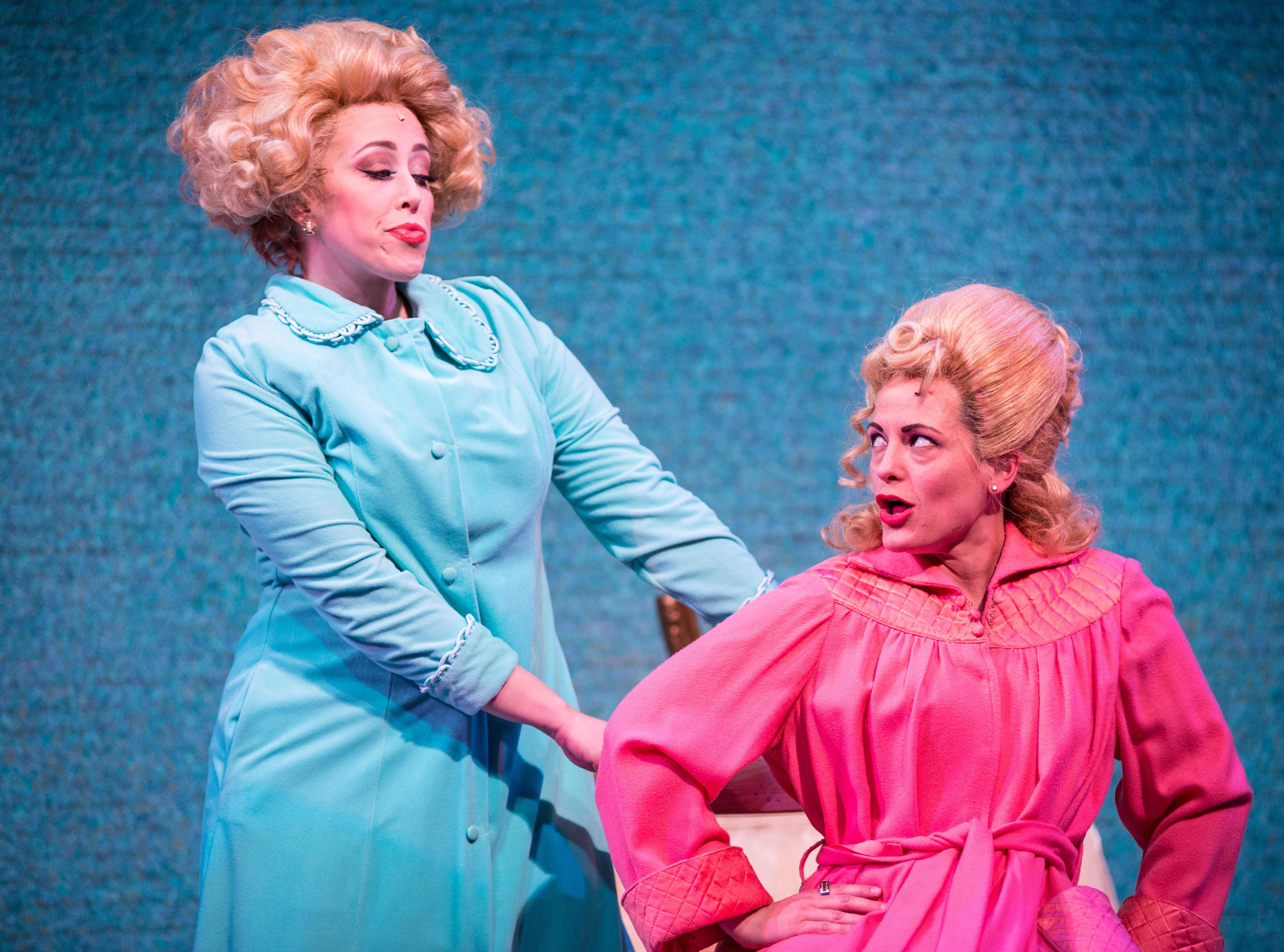 """Samantha Sostarich (left) and Amber Smith perform in Skylight Music Theatre's """"Hairspray."""""""