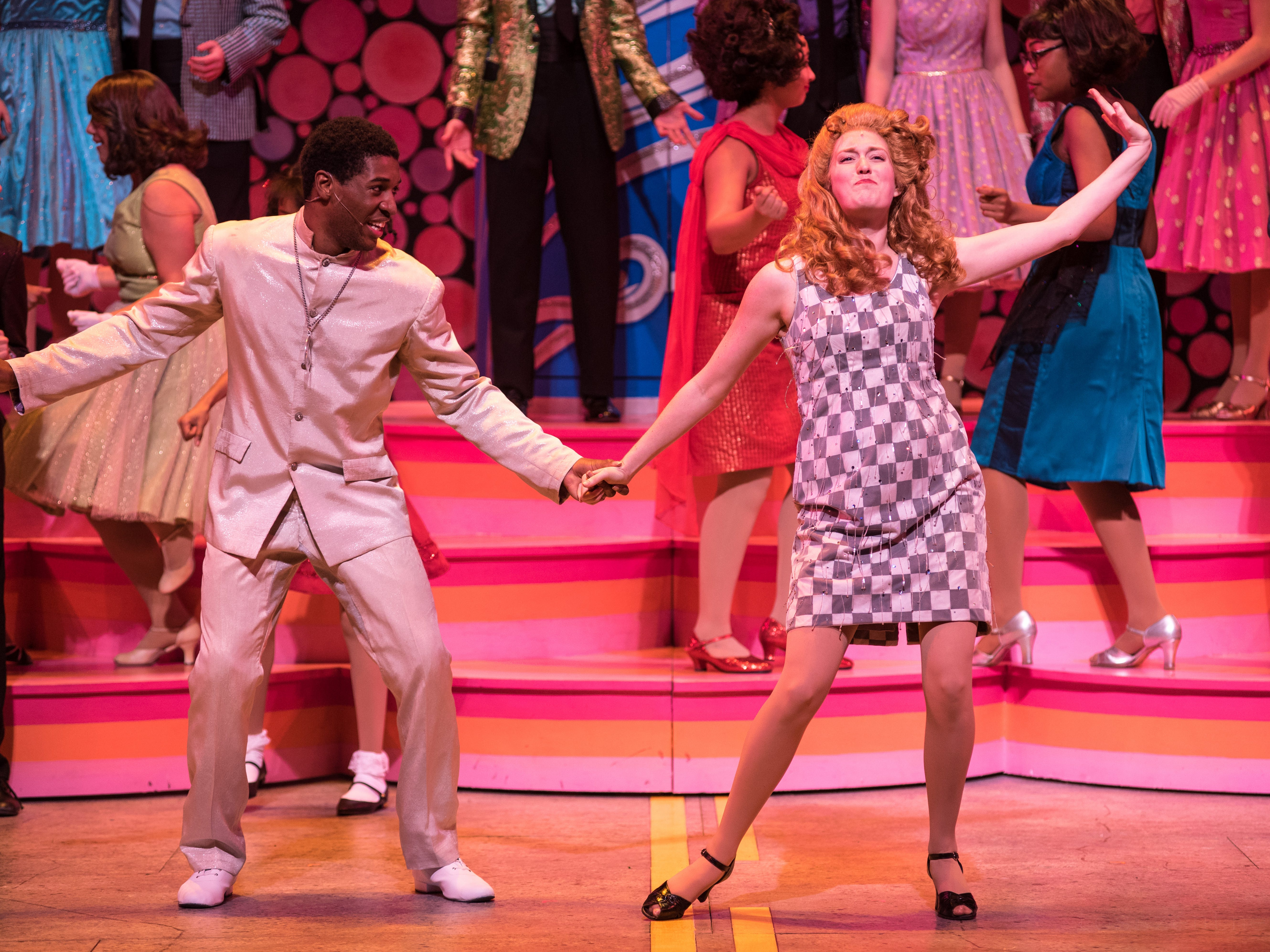 "Gilbert Domally and Ann Delaney dance in Skylight Music Theatre's ""Hairspray."""