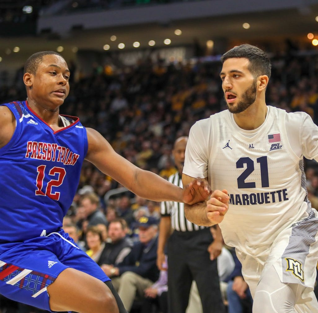 Marquette 74, Presbyterian 55: Joseph Chartouny helps get the Golden Eagles rolling