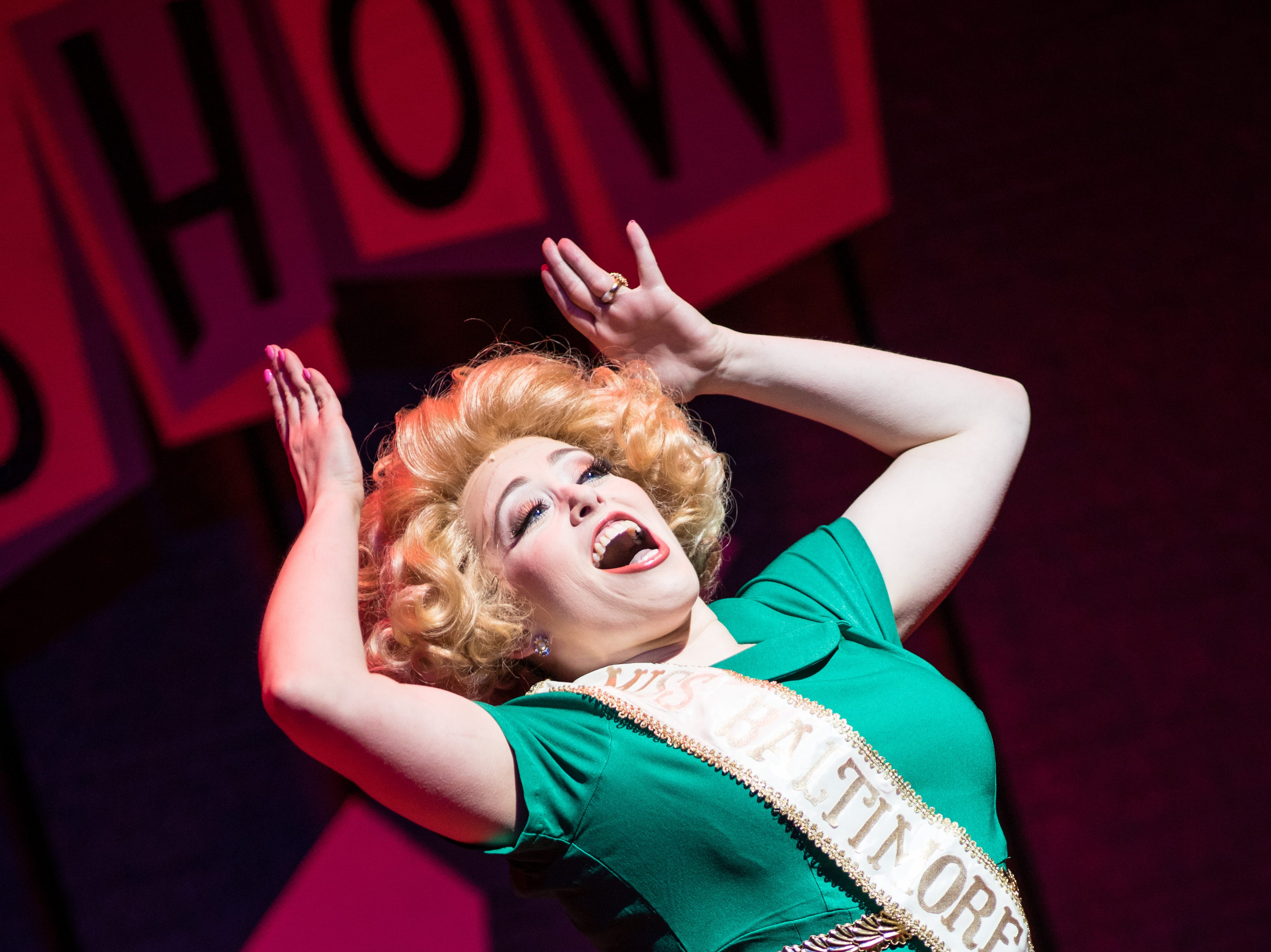 "Samantha Sostarich rehearses a scene in Skylight Music Theatre's ""Hairspray."""