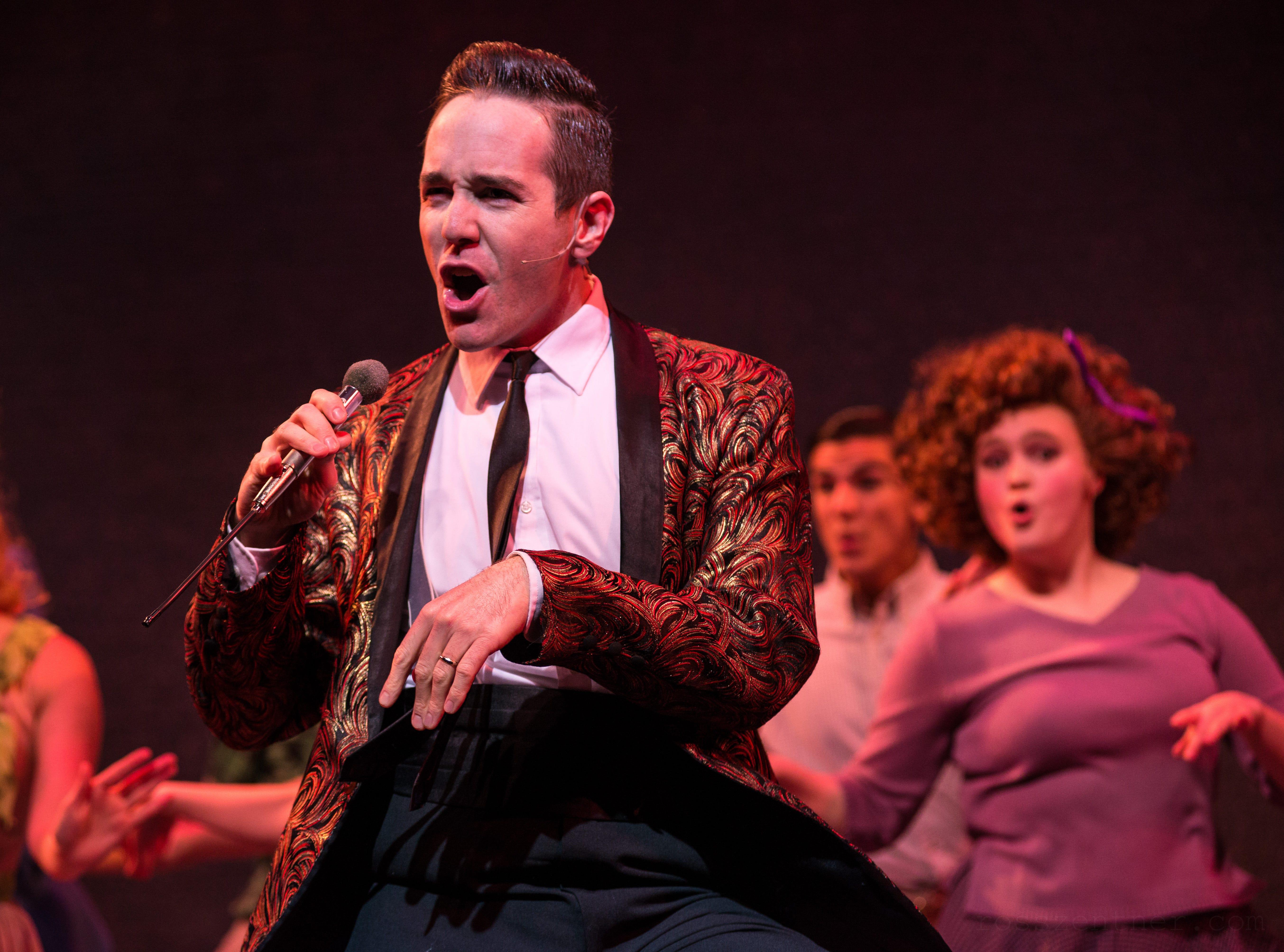 """Doug Clemons sings in Skylight Music Theatre's """"Hairspray."""""""