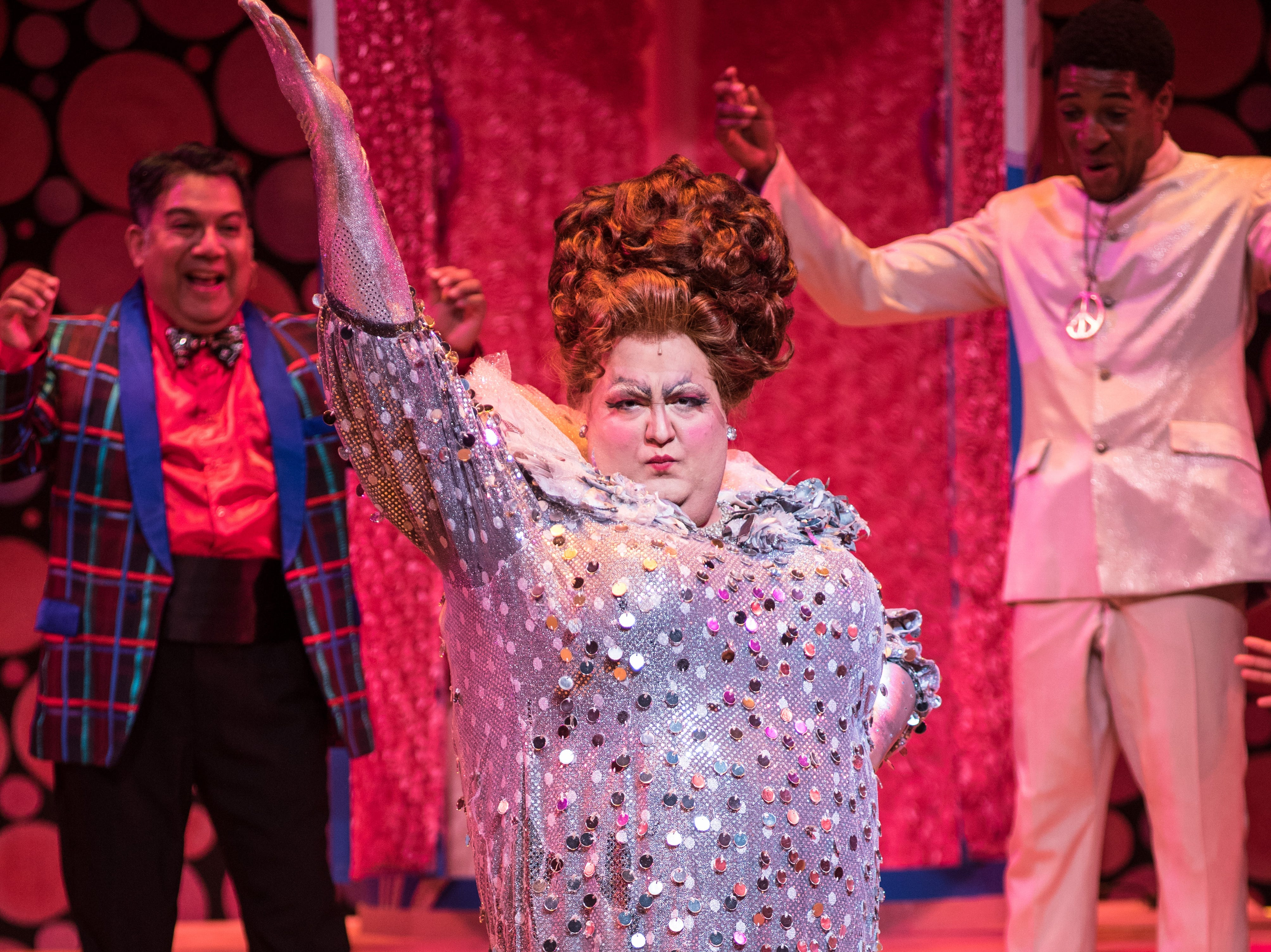 """As Edna Turnblad, Tommy Novak makes an impression in Skylight Music Theatre's """"Hairspray."""""""