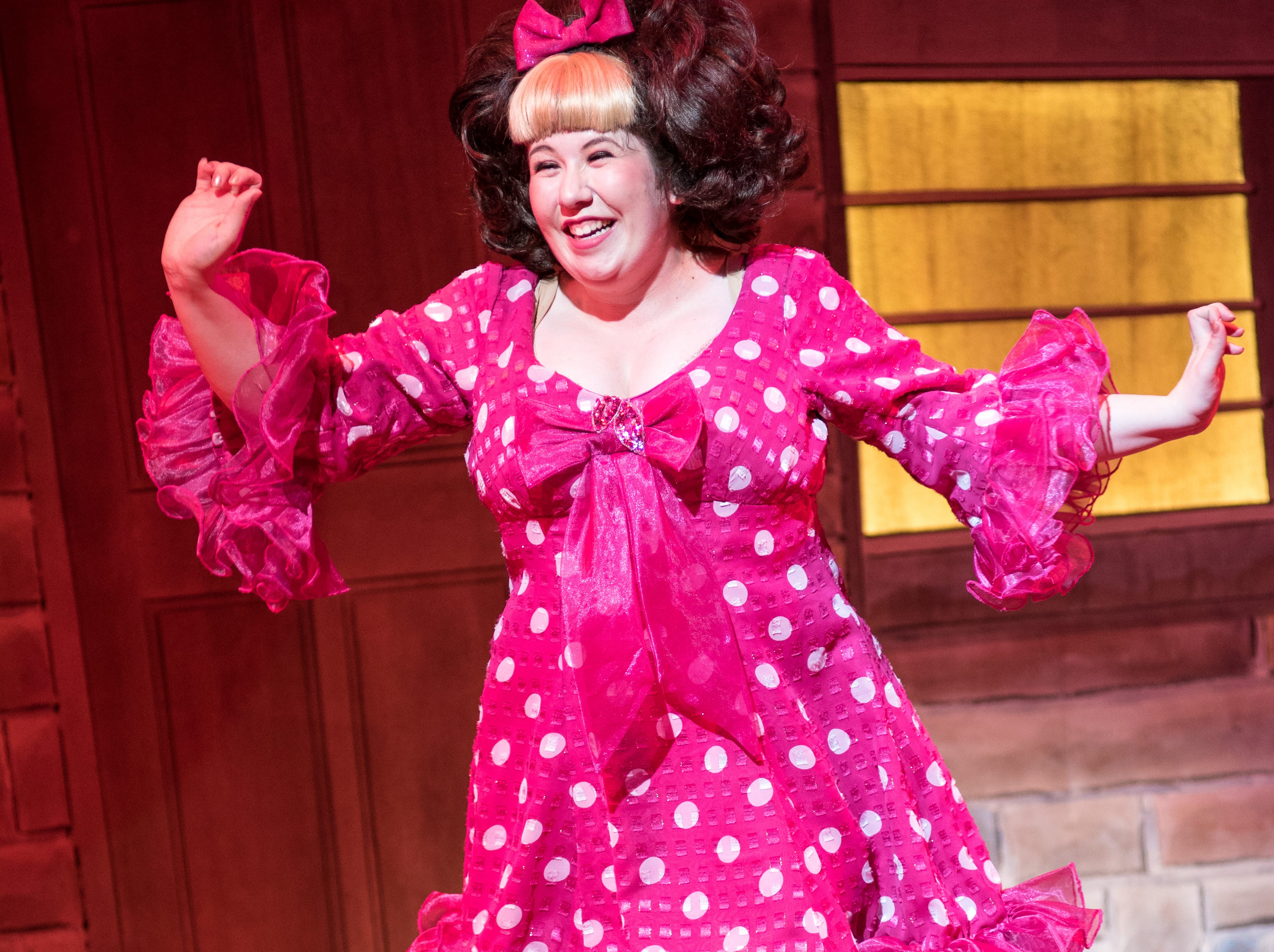 """Maisie Rose is brimming with enthusiasm in Skylight Music Theatre's """"Hairspray."""""""
