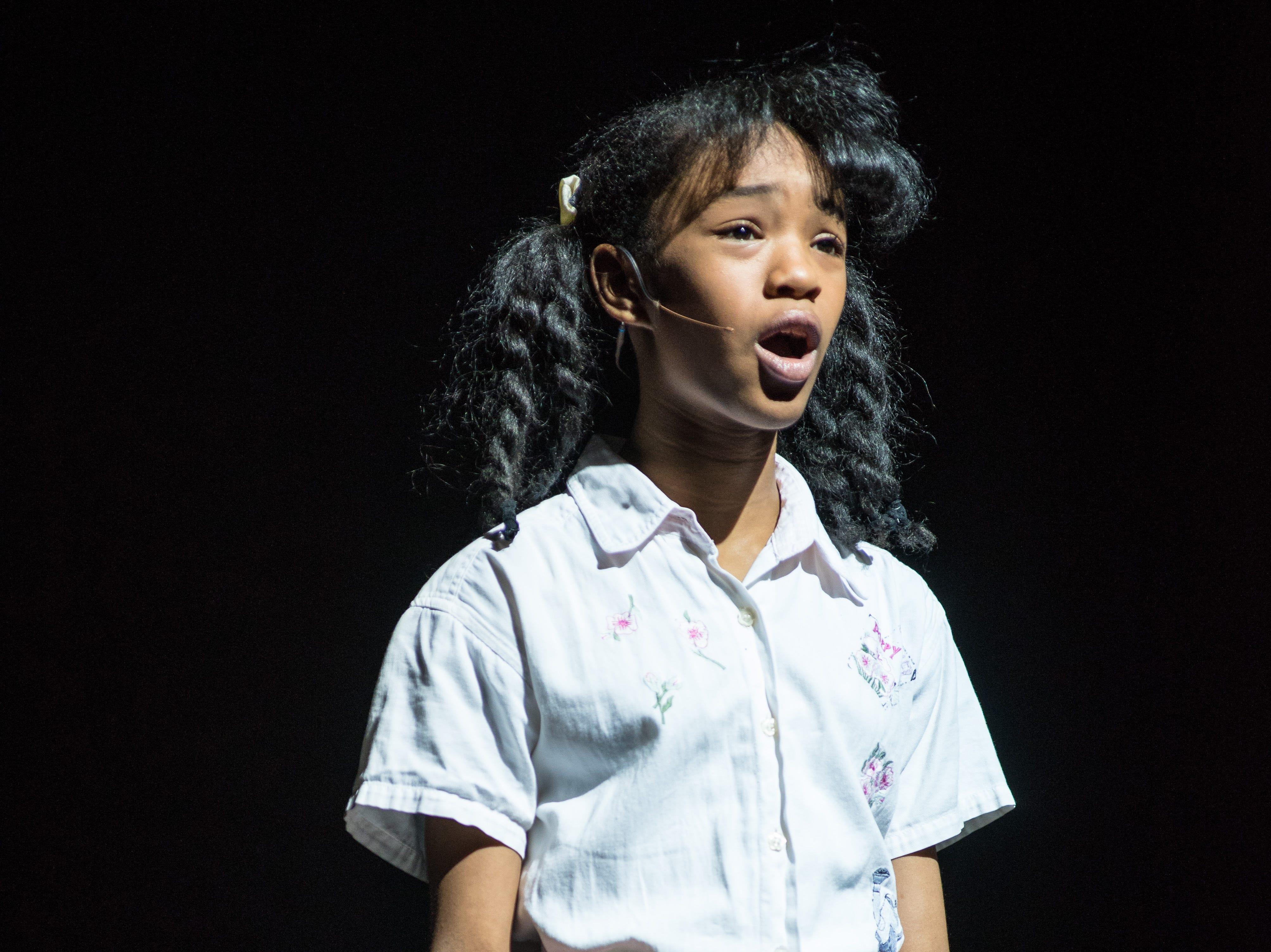"Terynn Erby-Walker sings in Skylight Music Theatre's ""Hairspray."""