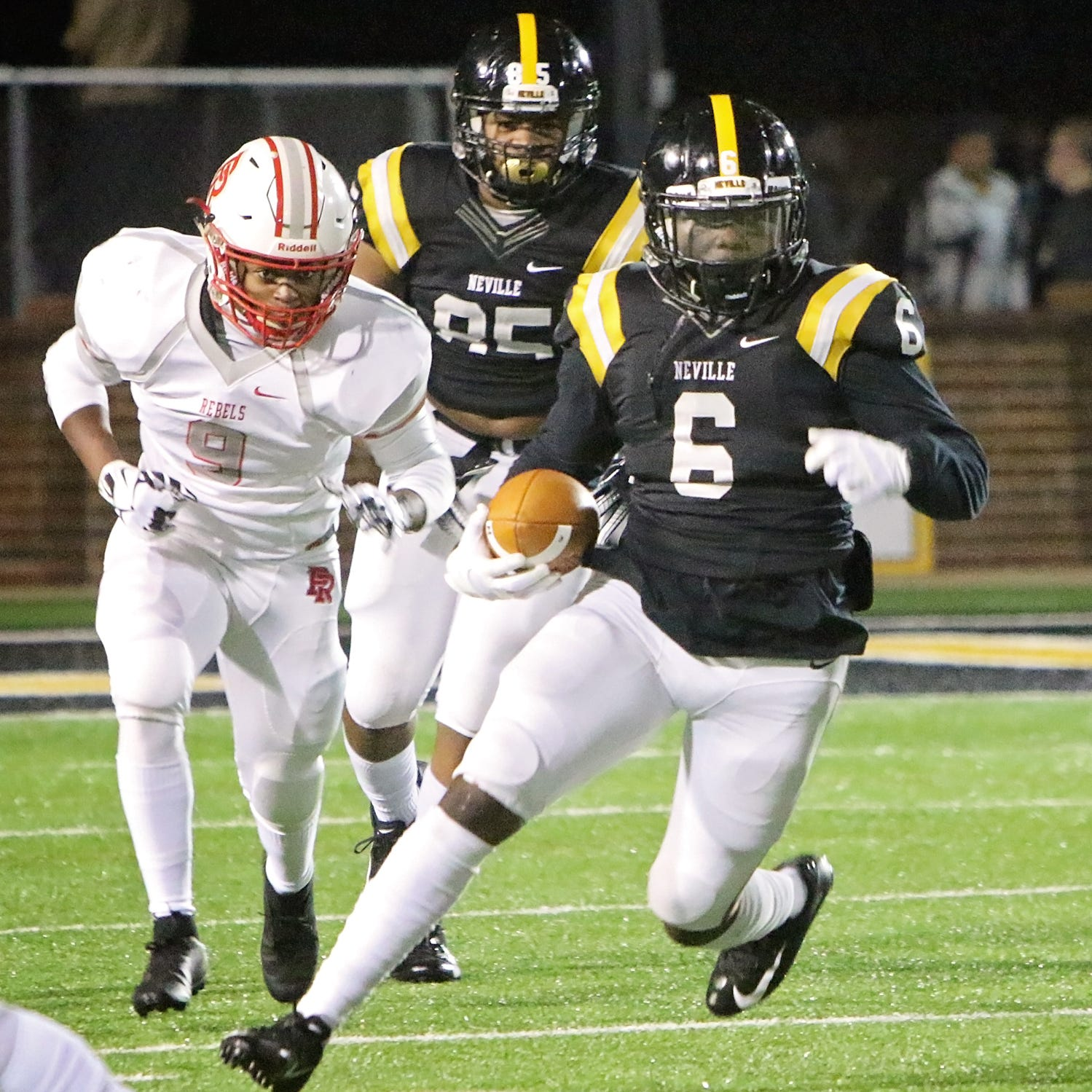 Second round of playoffs brought the Pearl River Rebels to Bill Ruple Stadium to battle the Neville Tigers friday night in Monroe, November 16