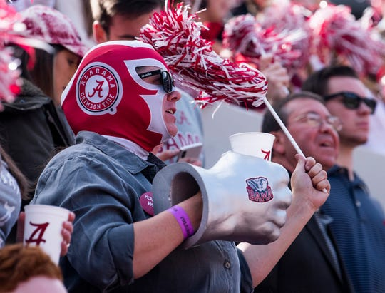 Alabama fans during the The Citadel game at Bryant-Denny Stadium in Tuscaloosa, Ala., on Saturday November 17, 2018.