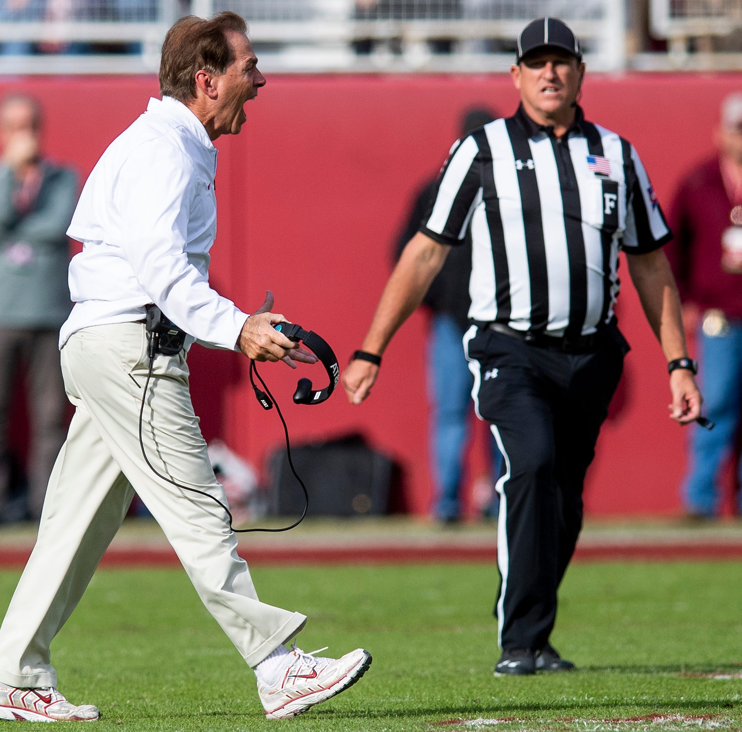 Frustrated Alabama defense refocuses after withstanding The Citadel's triple option attack