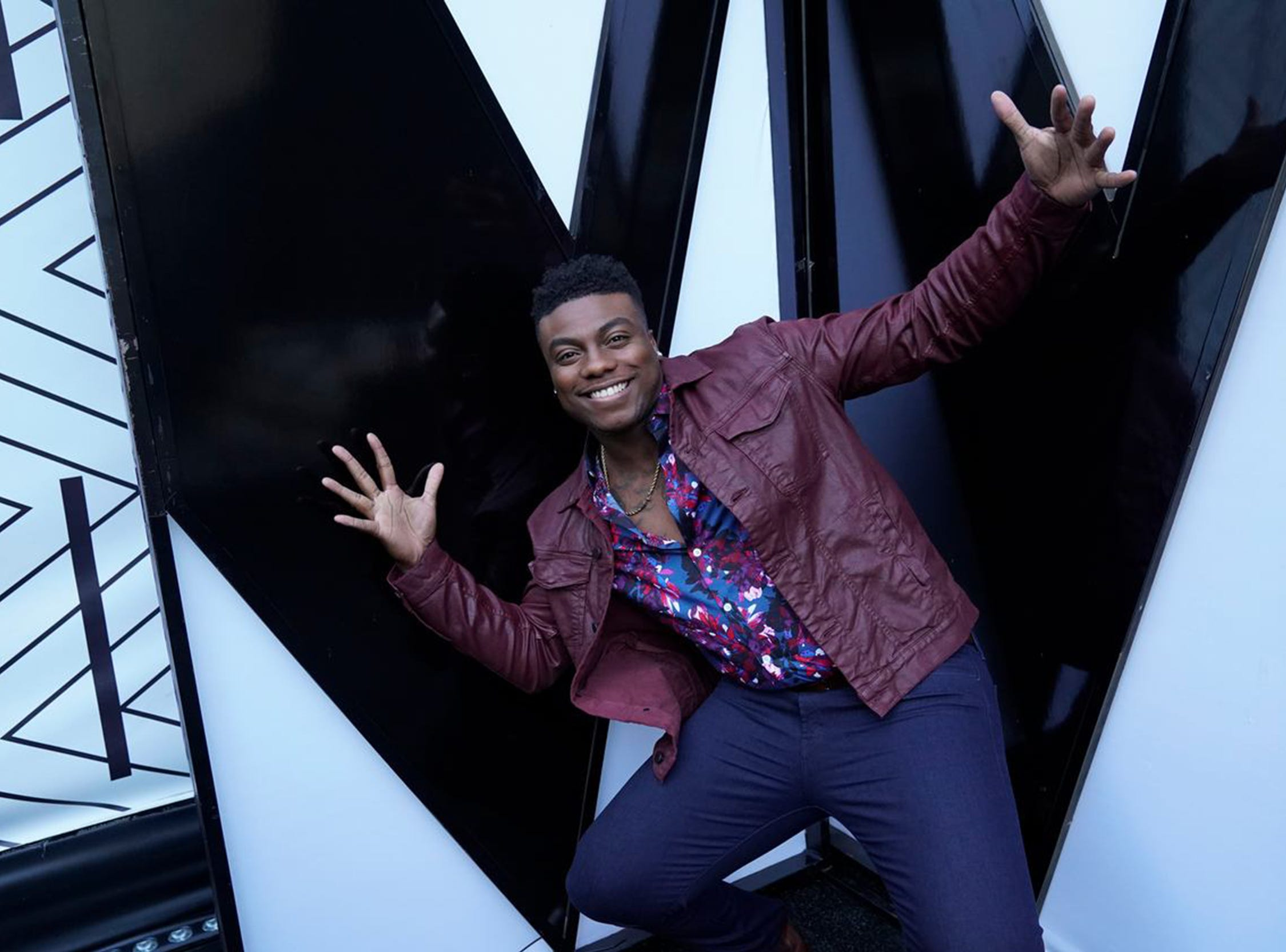 "Montgomery resident Kirk Jay shown Tuesday during the top 24 live eliminations on NBC's ""The Voice."""