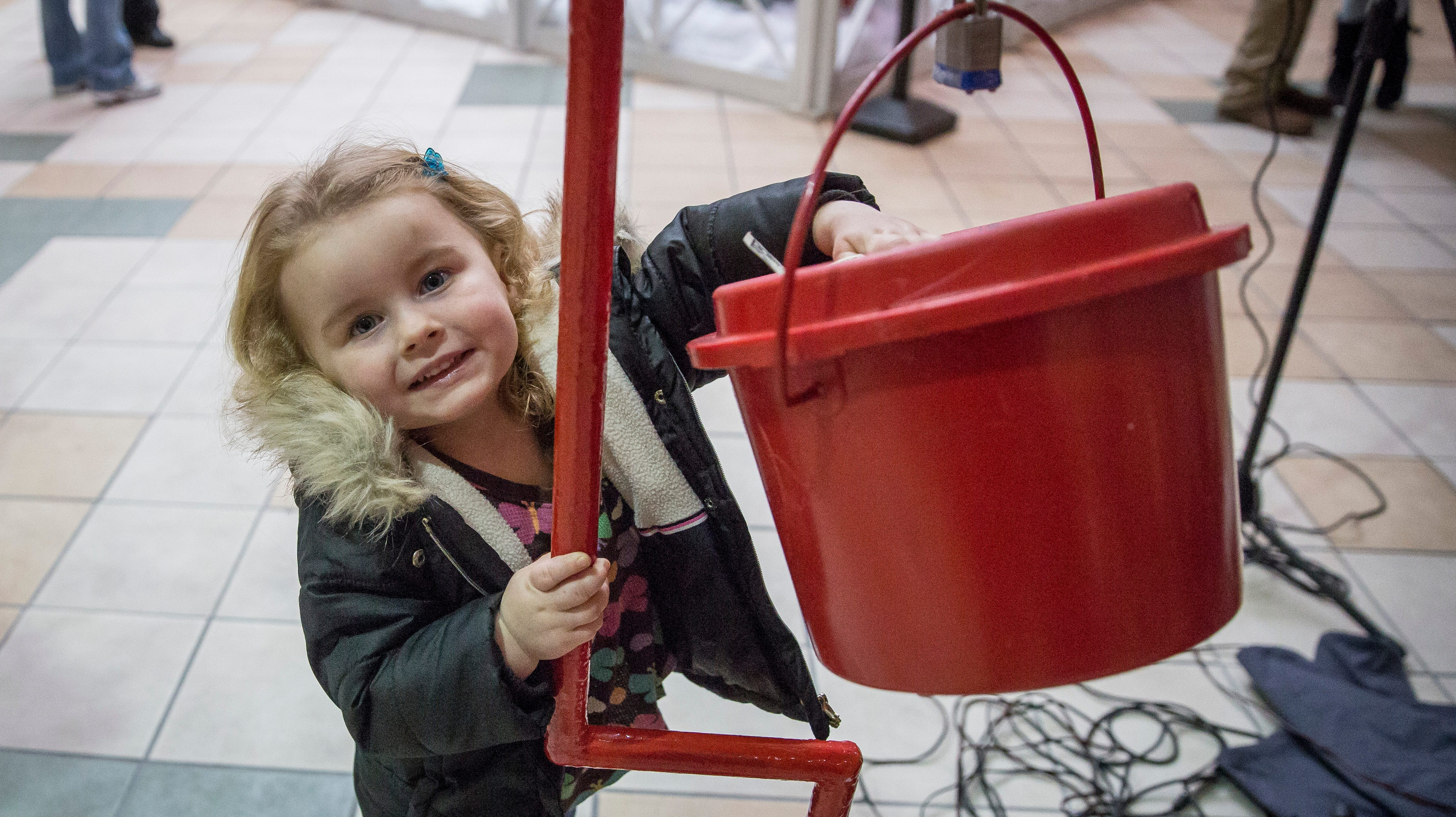 Salvation Army's Red Kettle Campaign Kickoff at the Muncie Mall