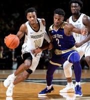Vanderbilt freshman guard Darius Garland is an elite three-point shooting threat.