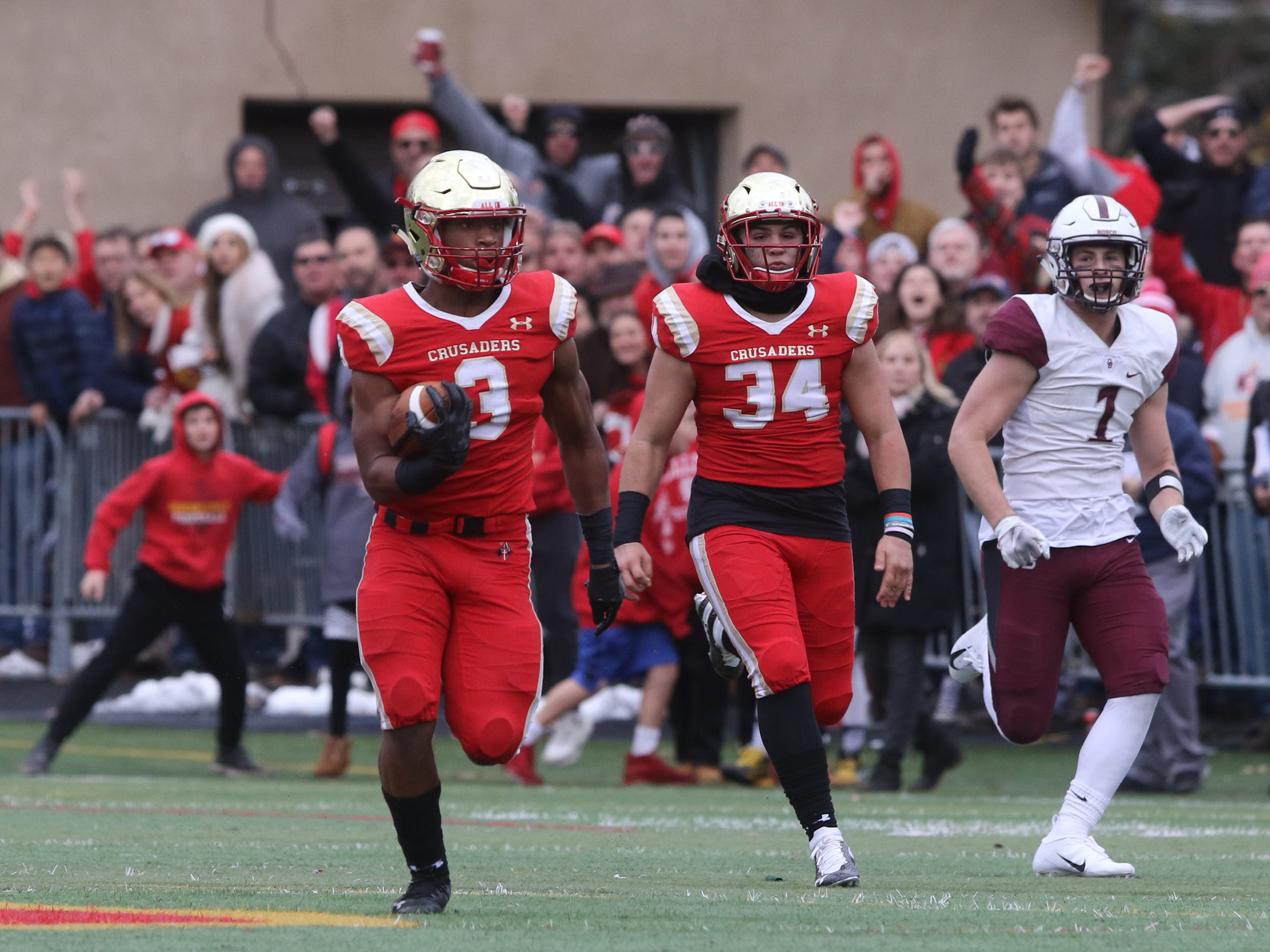 Anthony Corbin of Bergen Catholic makes this long run for a second half touchdown on a fake punt.