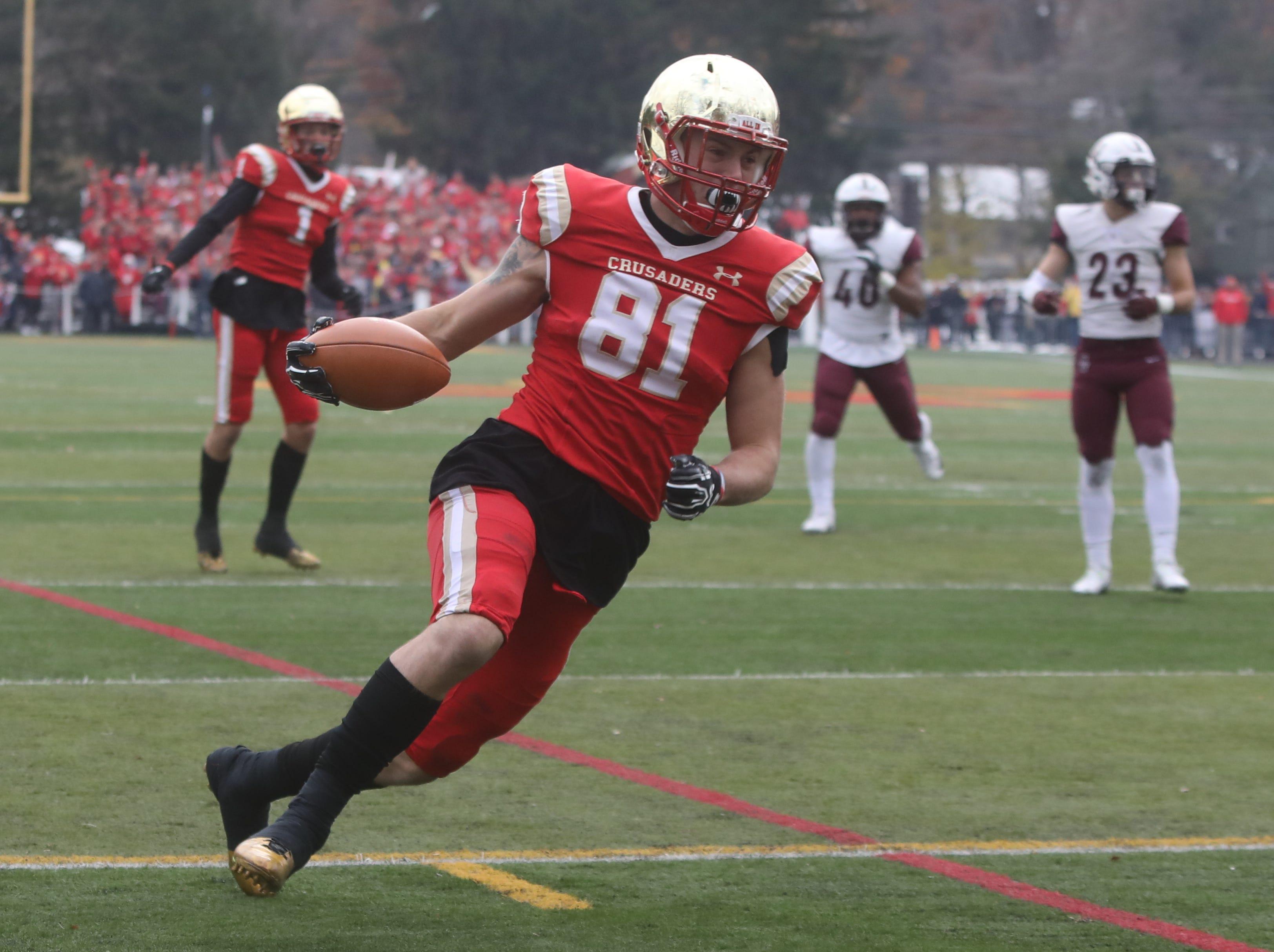 Tyler Devera of Bergen Catholic scores a second half TD.