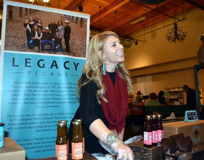 Heather Salopek, seen here in this 11/17/18 file photo from the New Mexico HomeGrown Showcase, will soon start up a subscription-based service for New Mexico sourced products, the Enchanted New Mexico Boxes.
