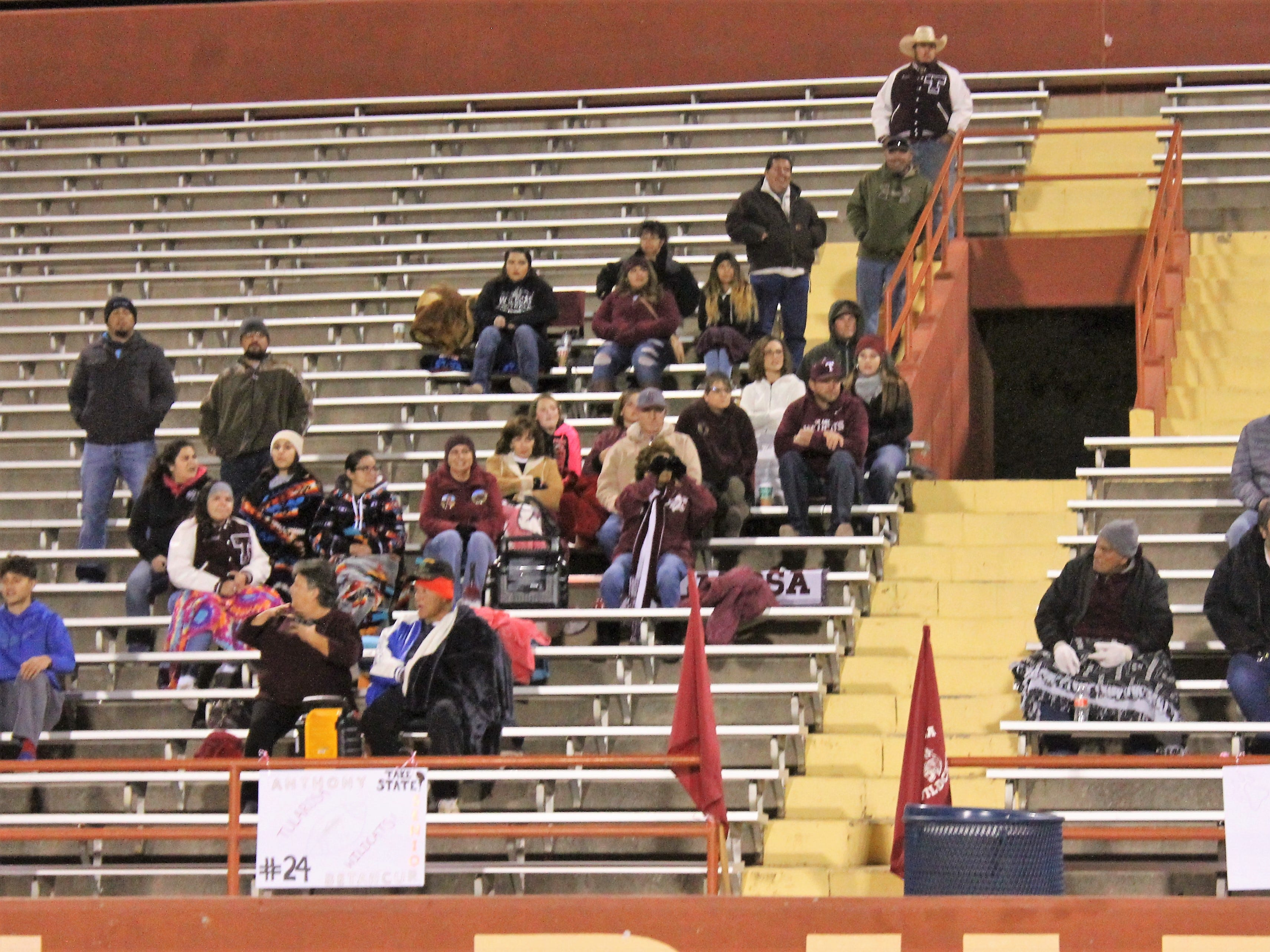 A crowd of Tularosa Wildcat supports at at Friday night's 3A State Championship Quarterfinal against the Hope Christian Huskies. The Huskies won the game 67-14.
