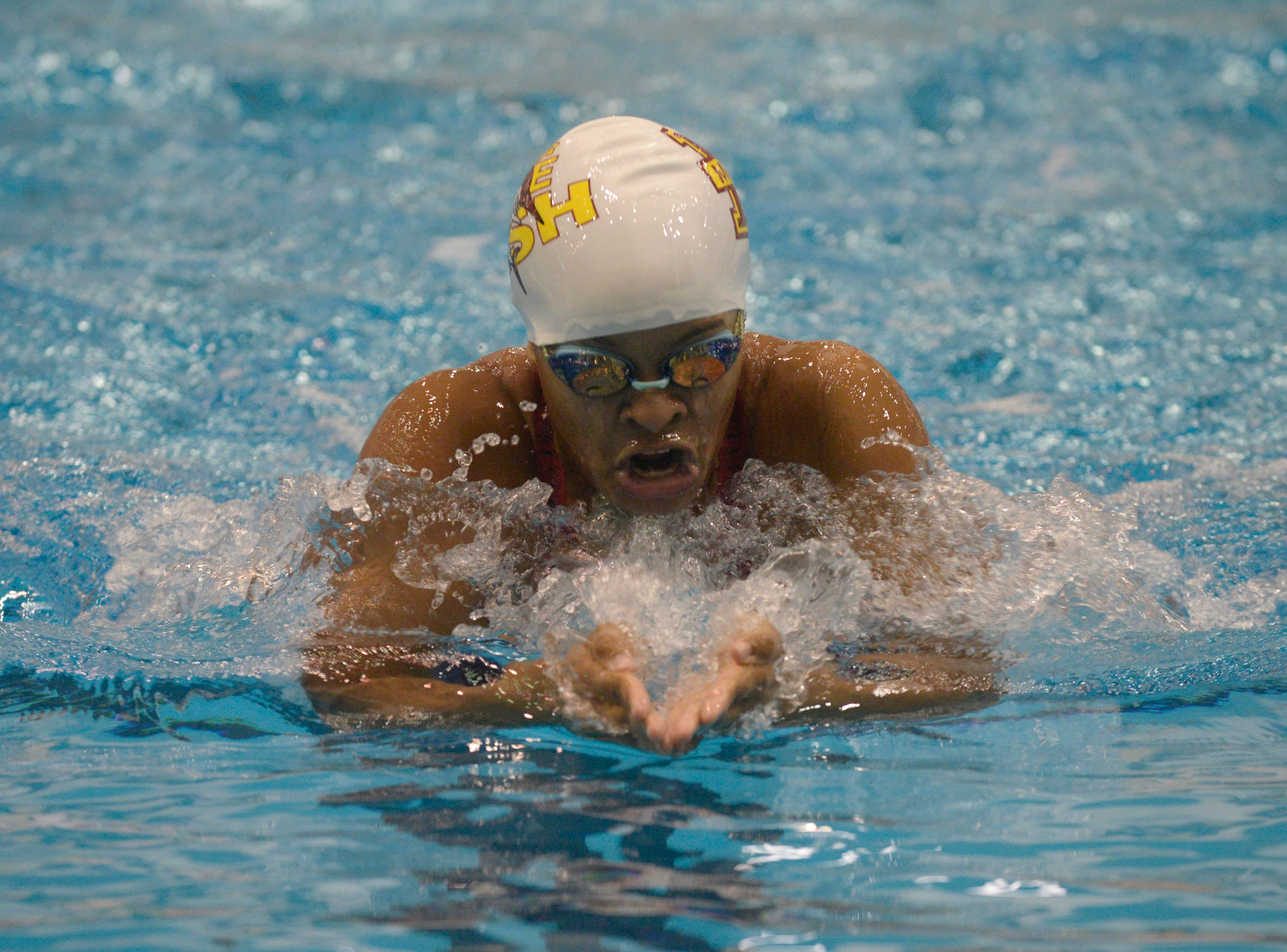 Mercy's Courtney Connoly in the 200 IM at the Division 1 girls swimming and diving championships held at Eastern Michigan University Nov. 17, 2018.