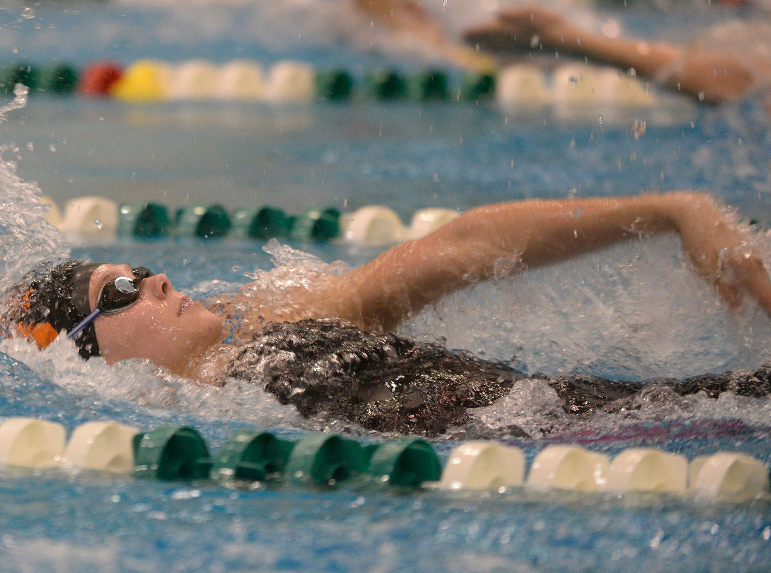 Lindsey Witte of Brighton in the 200 IM at the Division 1 girls swimming and diving championships held at Eastern Michigan University Nov. 17, 2018.