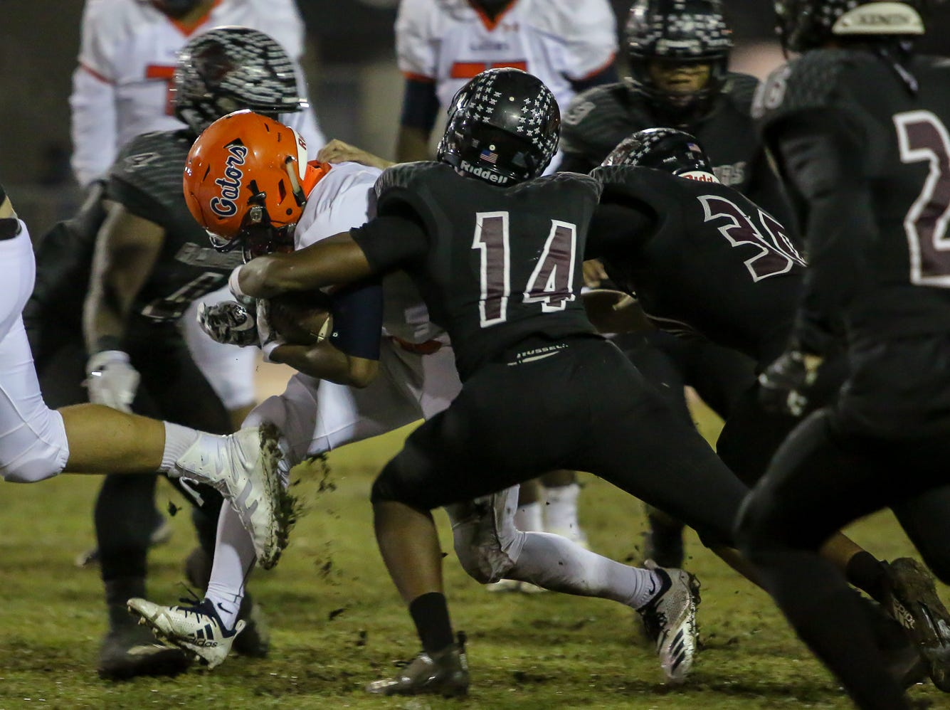 The Navarre Raiders take on the Escambia Gators in the Region 1-6A Semifinal game at Navarre High School on Friday, November 16, 2018.