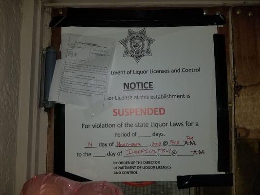 notice of suspension