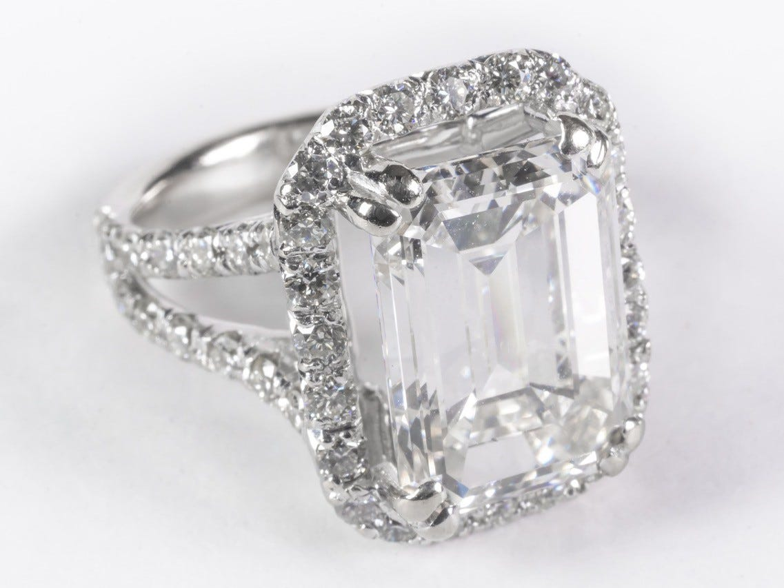 A 6-plus carat, $90,000 emerald-cut diamond ring, surrounded by 52 smaller diamonds, is up for auction in Scottsdale after high-profile lawyer Scott Maasen  hid the asset from bankruptcy court and landed in prison.