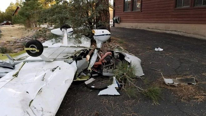 Two people died after a plane crashed into a home in Heber-Overgaard on Nov. 16, 2018.
