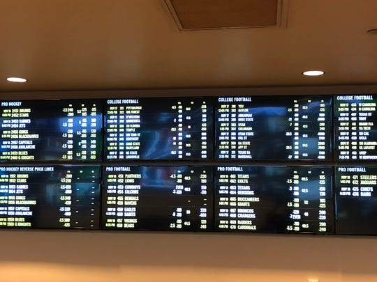 A peak inside Hollywood Casino's new sportsbook, which took Pennsylvania's first sports bets in Grantville on Nov. 15