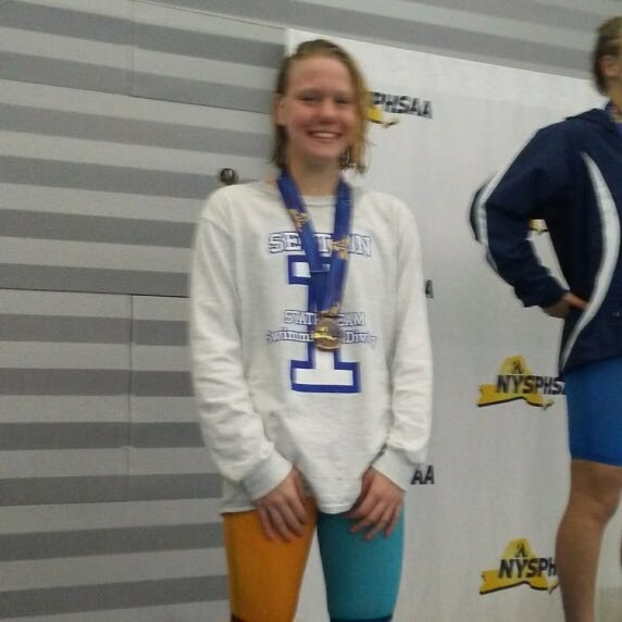 Lourdes' Bosse earns two top-5 finishes in the state swimming championships