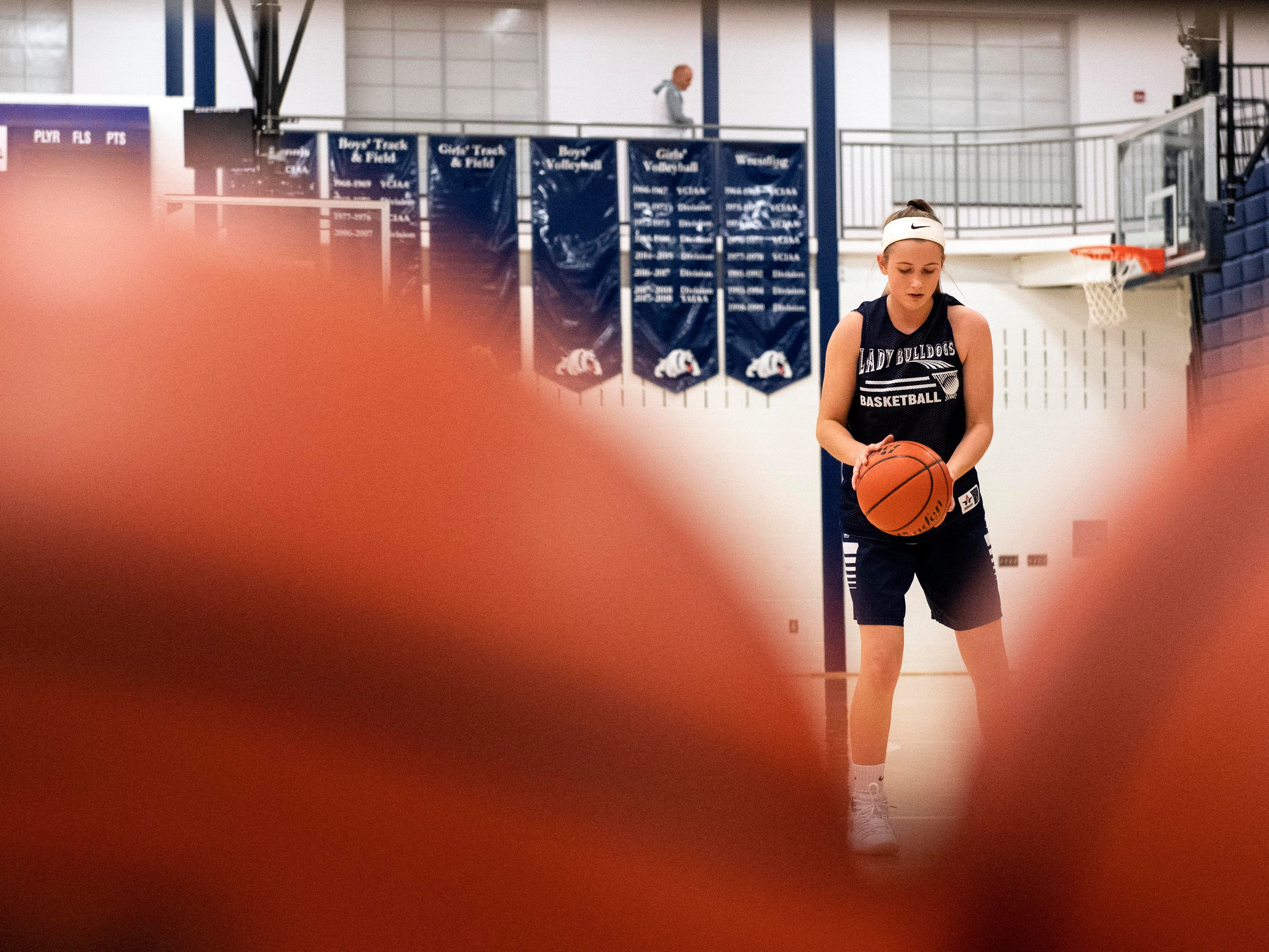 West York girls' basketball work on free throws during the first official day of winter sports practice on Friday, November 16, 2018.