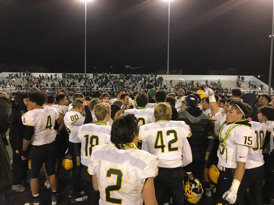 Bishop Manogue won the Northern 4A Regional football championship on Friday night.