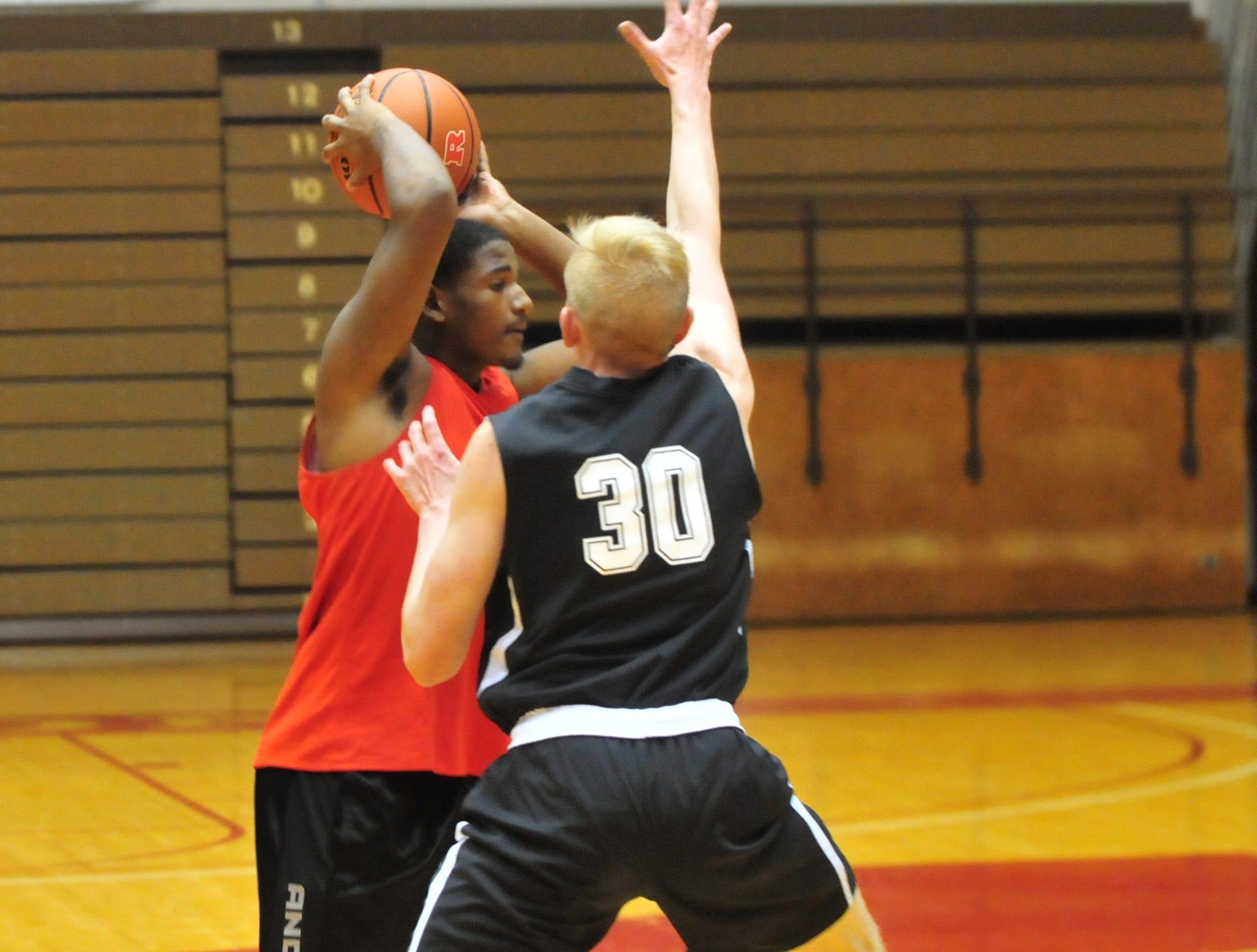 Richmond High School junior Rafael Deane during a boys basketball scrimmage against Franklin Central Saturday, Nov. 17, 2018 at Richmond High School's Tiernan Center.