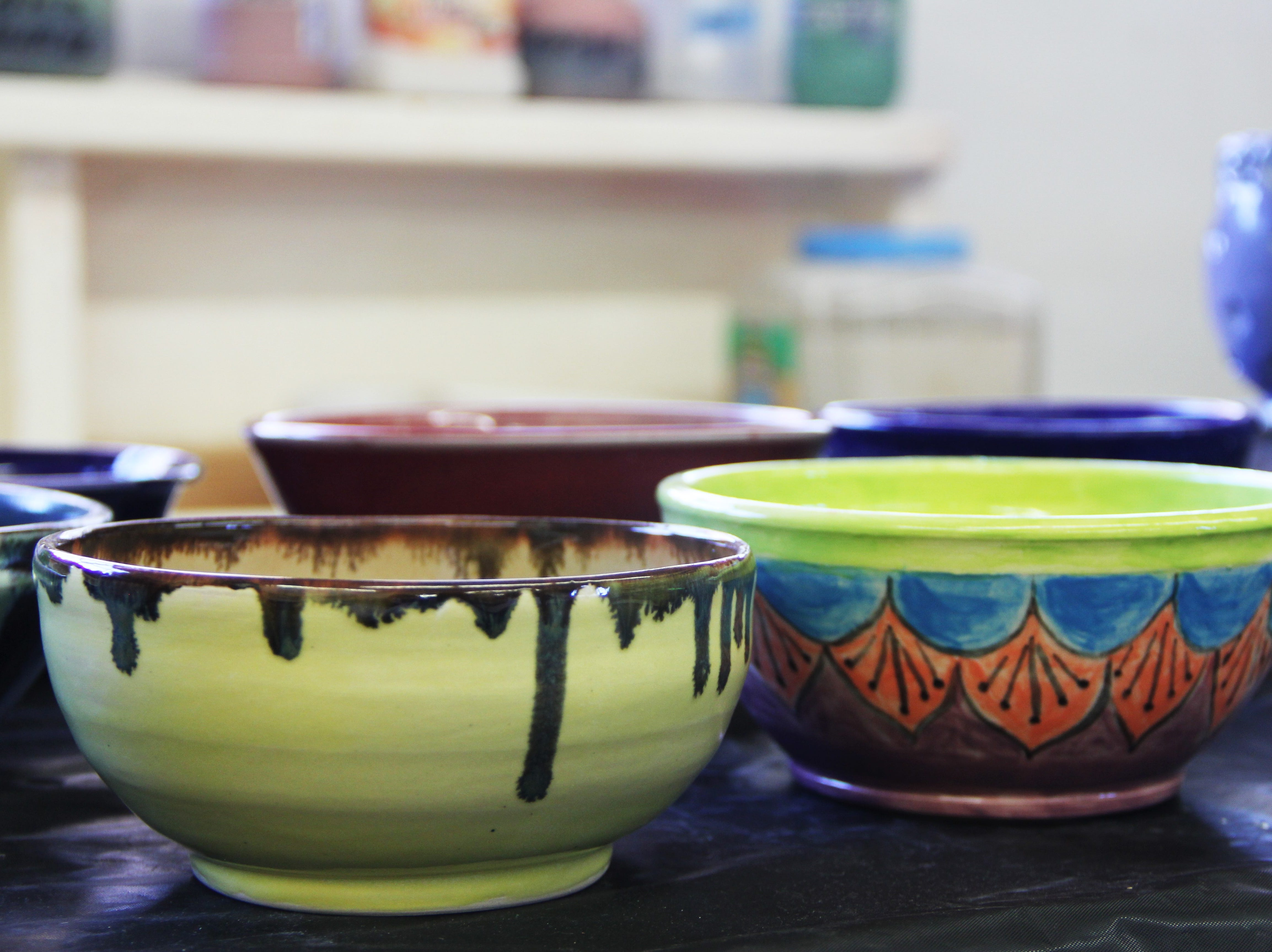 Handmade bowls at the Willamette Art Center's Empty Bowls fundraiser on Saturday, Nov. 17. Each year, they aim to raise $20,000 for the Marion-Polk Food Share.