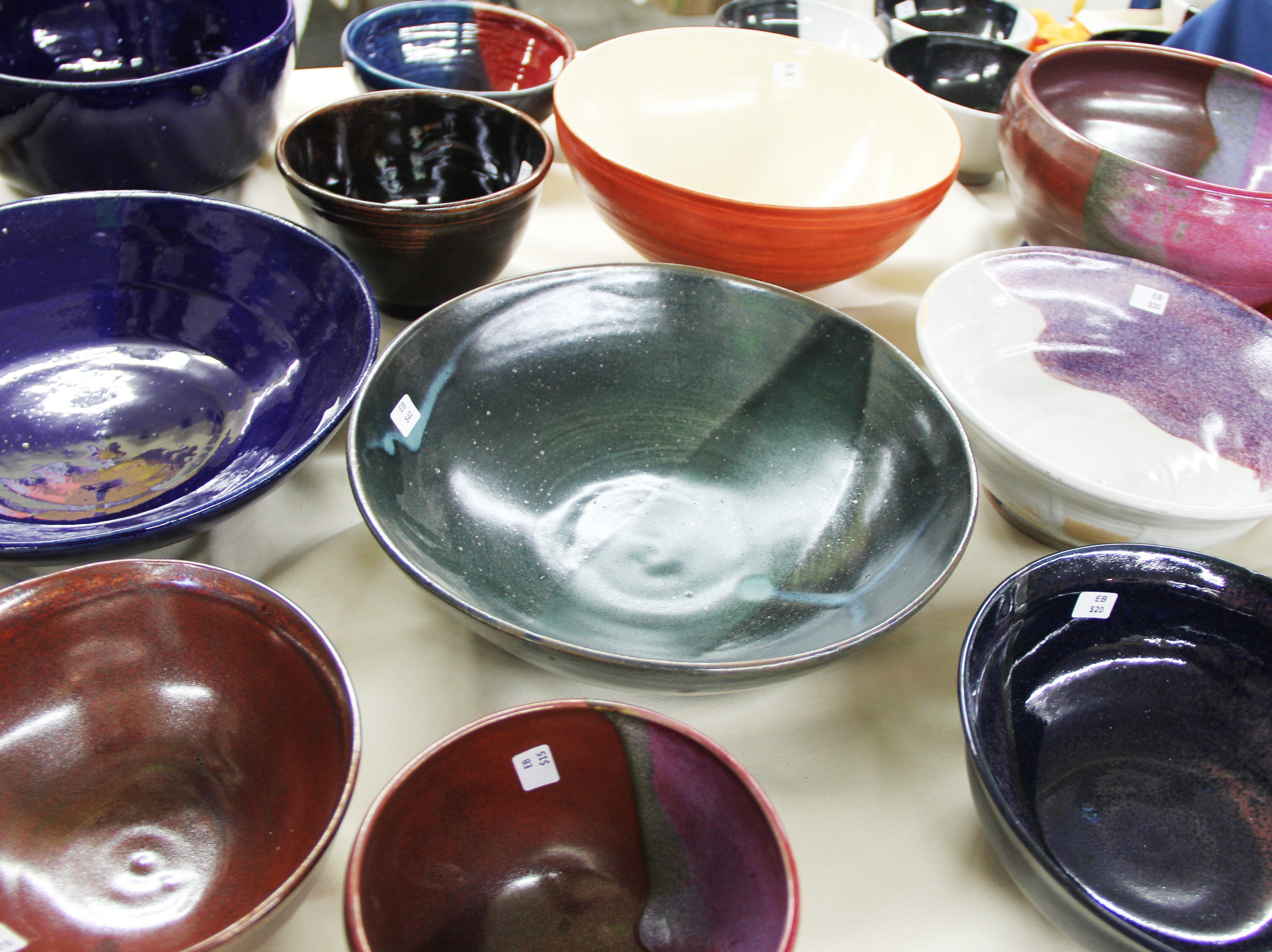 There were almost 1,200 bowls for sale at the beginning of the Willamette Art Center's Empty Bowls fundraiser on Saturday, Nov. 17.