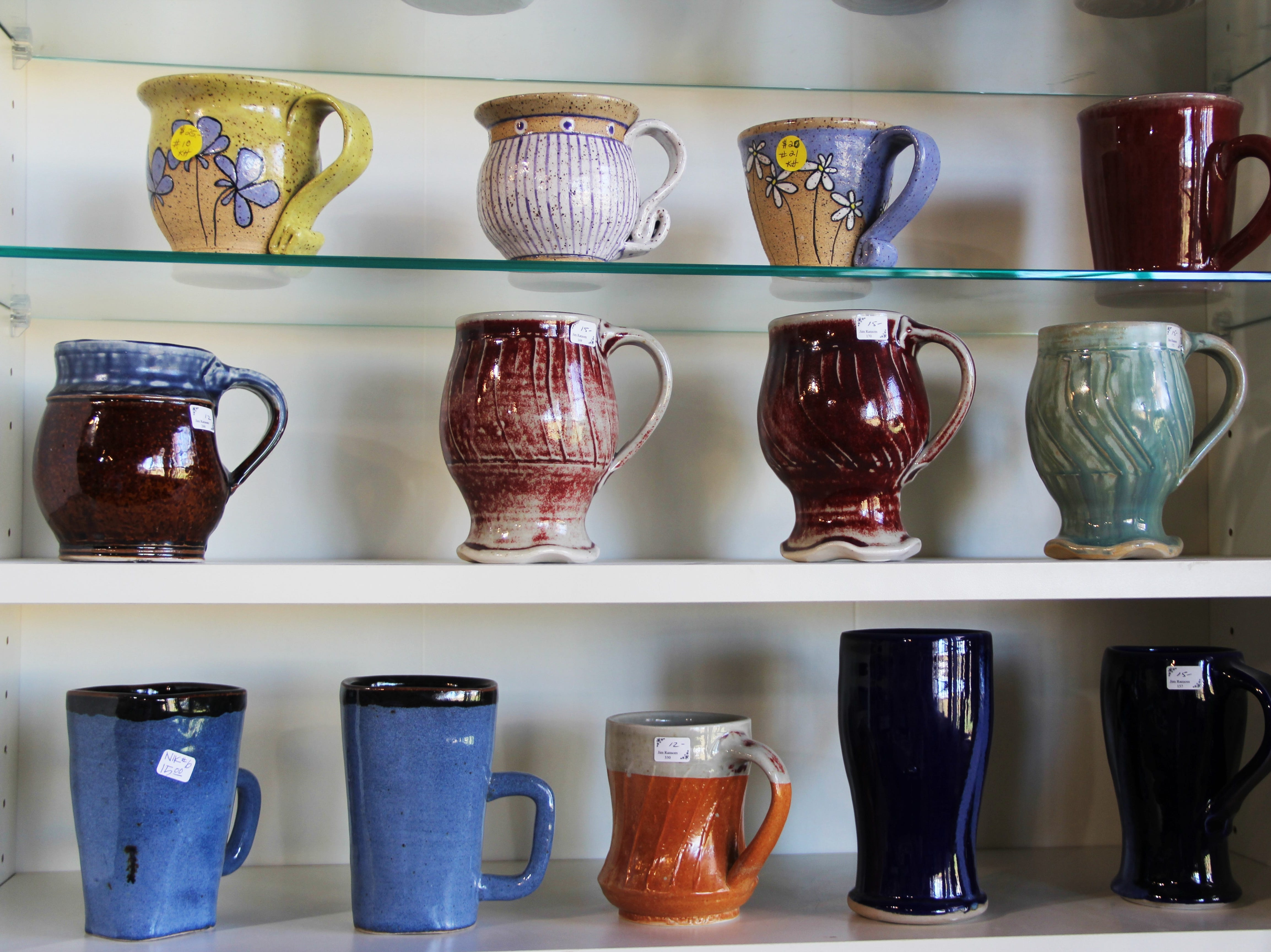 Rows of mugs at the Willamette Art Center's Empty Bowls fundraiser on Saturday, Nov. 17. Every dollar spent at the fundraiser provides three meals to members of the community.