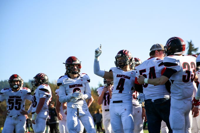 Santiam defeated Monroe, 44-13, in the OSAA 2A semifinal Santiam vs. Monroe football game on Saturday, Nov. 17, 2018 in Cottage Grove.