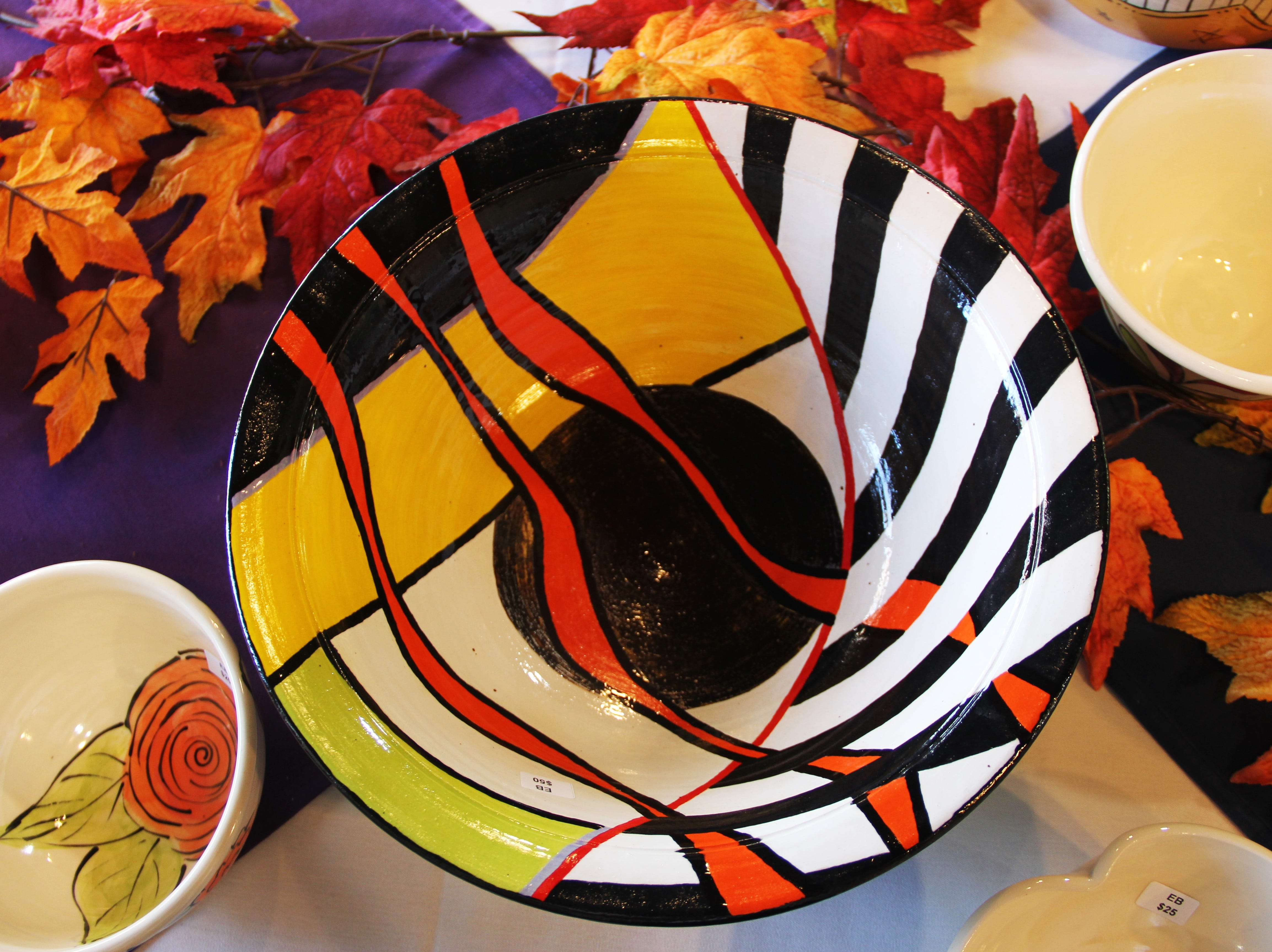 One of the bowls for sale at the Willamette Art Center's Empty Bowls fundraiser on Saturday, Nov. 17. 100 percent of profits go to the Marion-Polk Food Share.