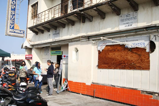 The exterior of what once was the New Republic Cafe. Members of the Asian Cultural Experience say they plan to turn the once-thriving restaurant space into a cultural center celebrating the unique history and cooperation of Filipino, Japanese and Chinese people who once populated Salinas's Chinatown.