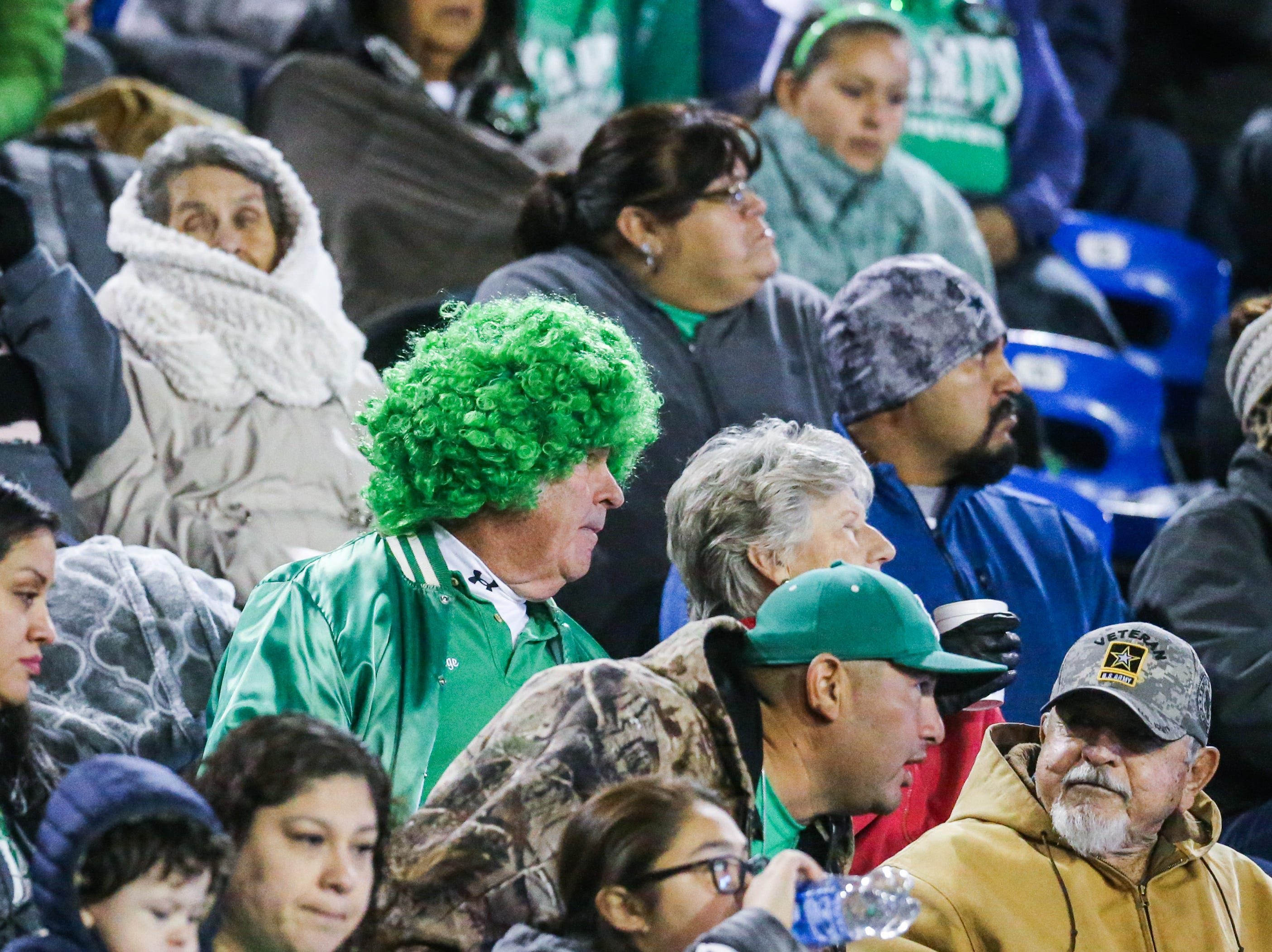 Eldorado fans sport team colors at the game against Haskell Friday, Nov. 16, 2018, at San Angelo Stadium.